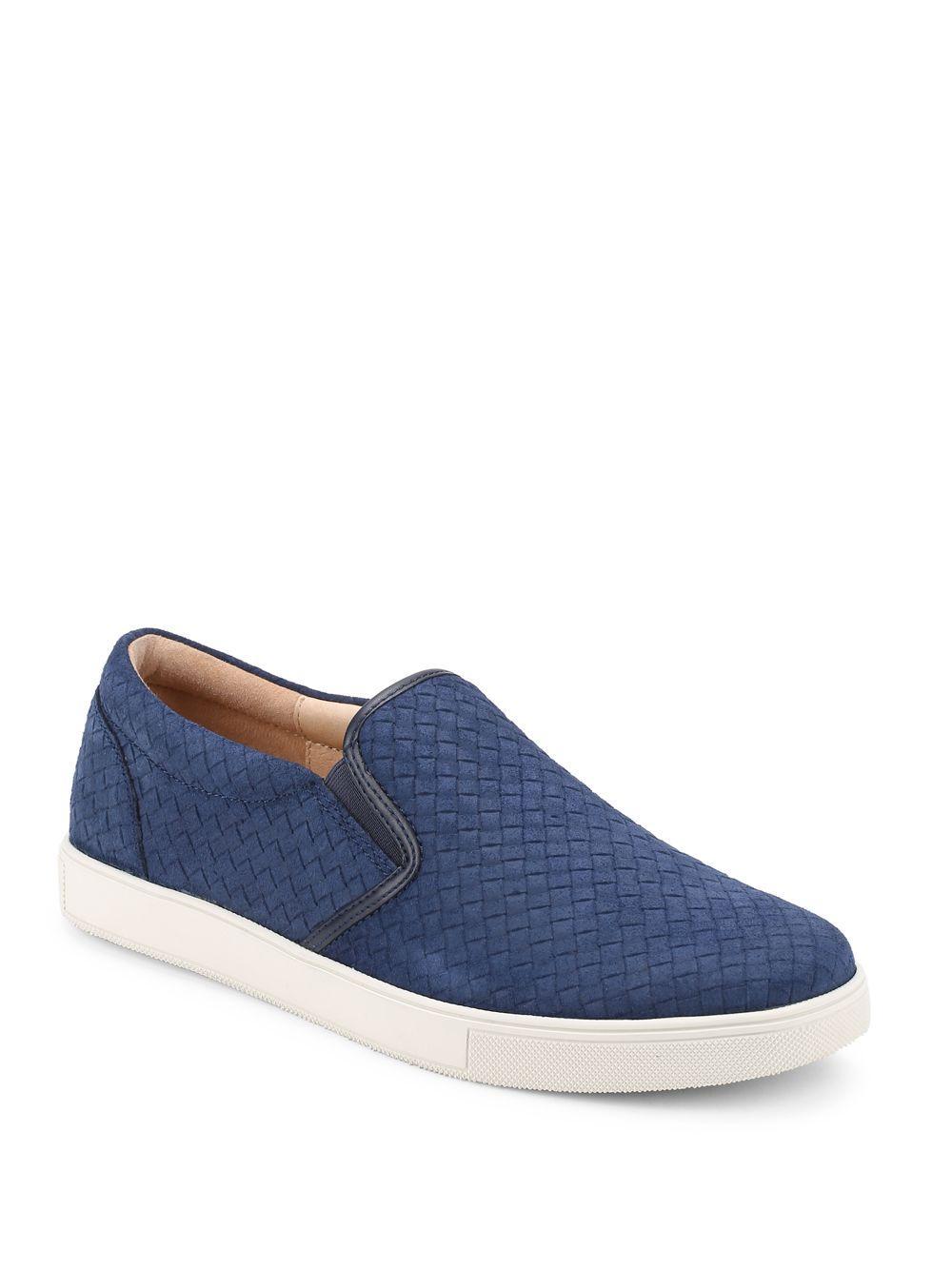 Sam Edelman Eric Basketweave Slip On Sneakers In Blue For
