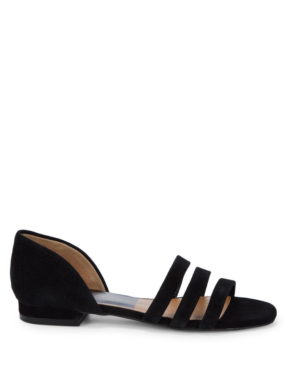 c206318e5a3f Lyst - Dolce Vita Deidra Three-strap Leather Sandals in Black