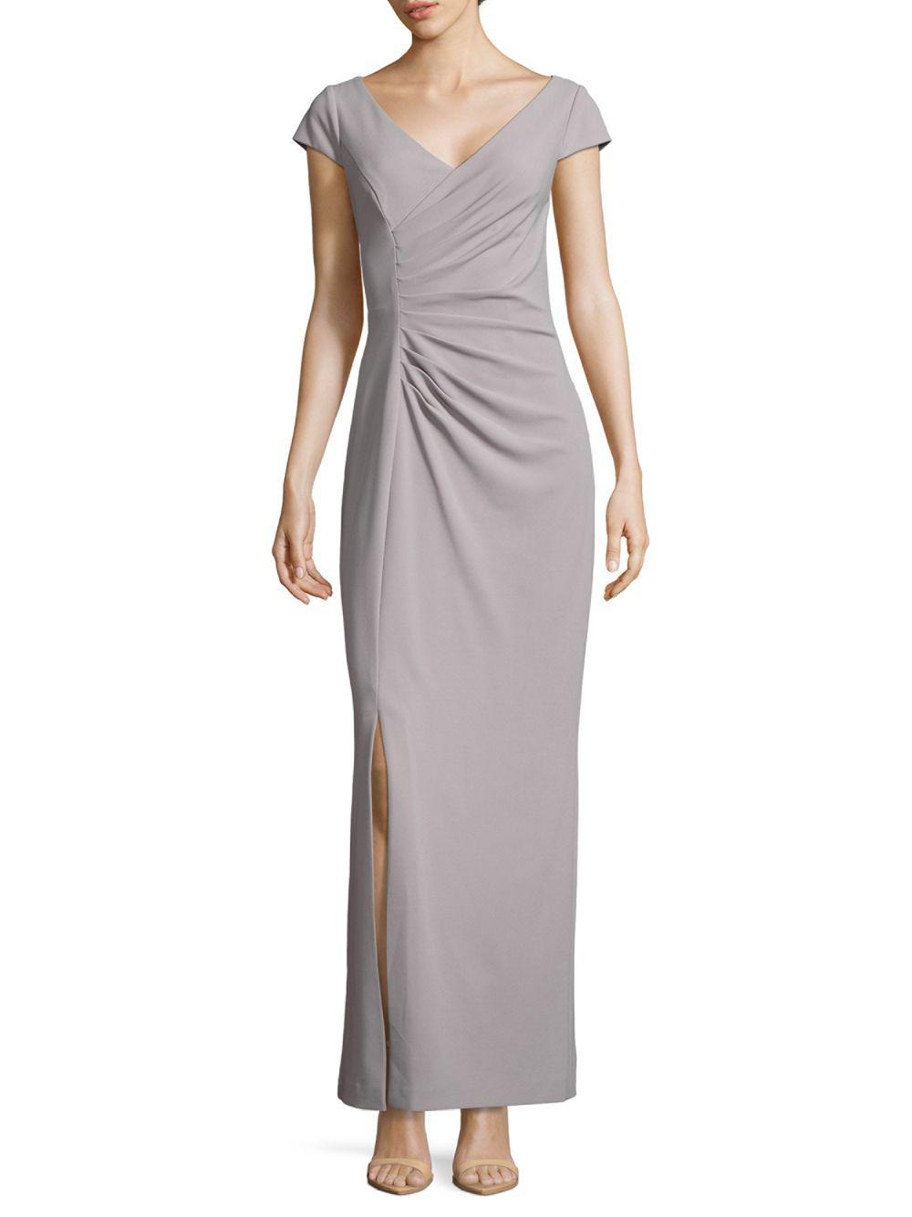 Cross Front Gray Gown