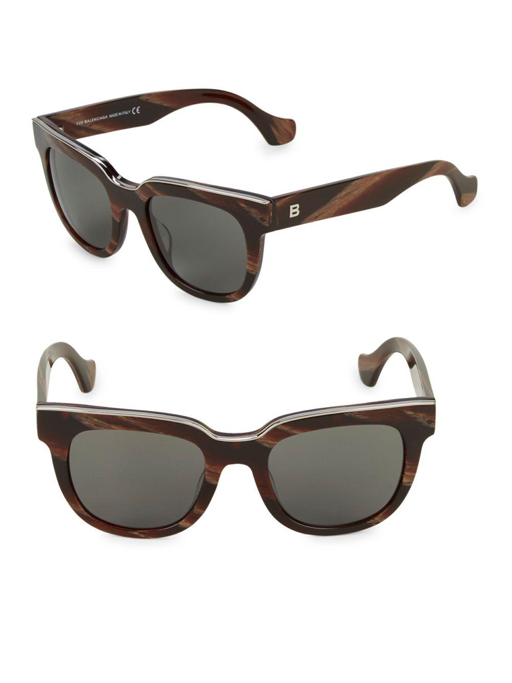 d3577bc90aa Lyst - Balenciaga 50mm Square Sunglasses in Brown