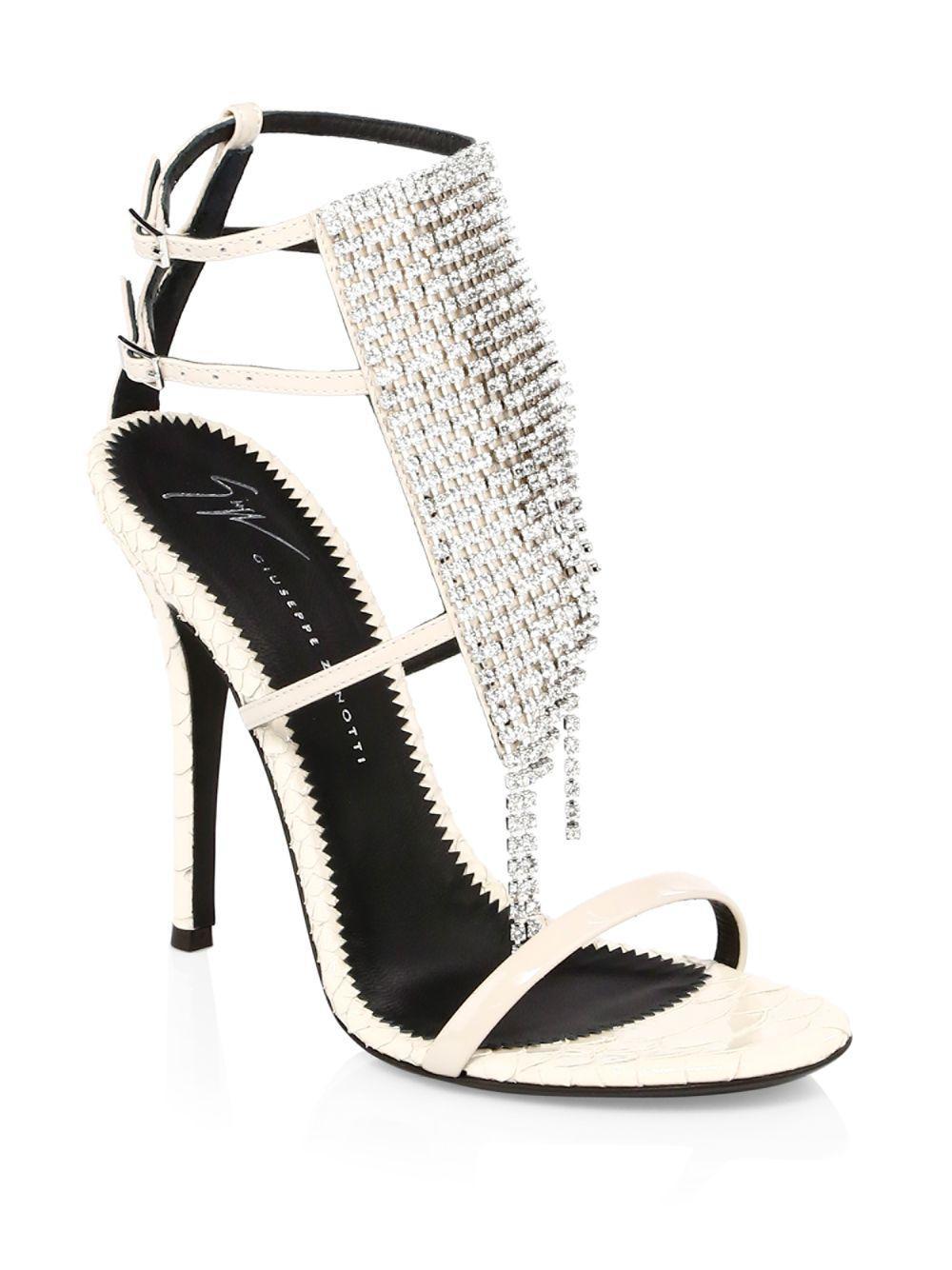 77e977ecfa0 Lyst - Giuseppe Zanotti Women s Alien Crystal Stiletto Sandals ...