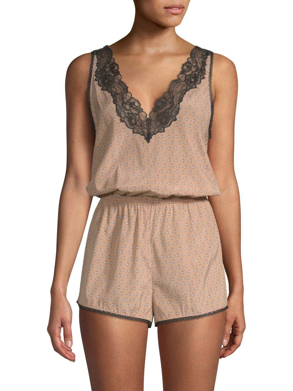 6b41ab2ed082 Stella McCartney Poppy Snoozing Silk Romper in Natural - Save 20% - Lyst