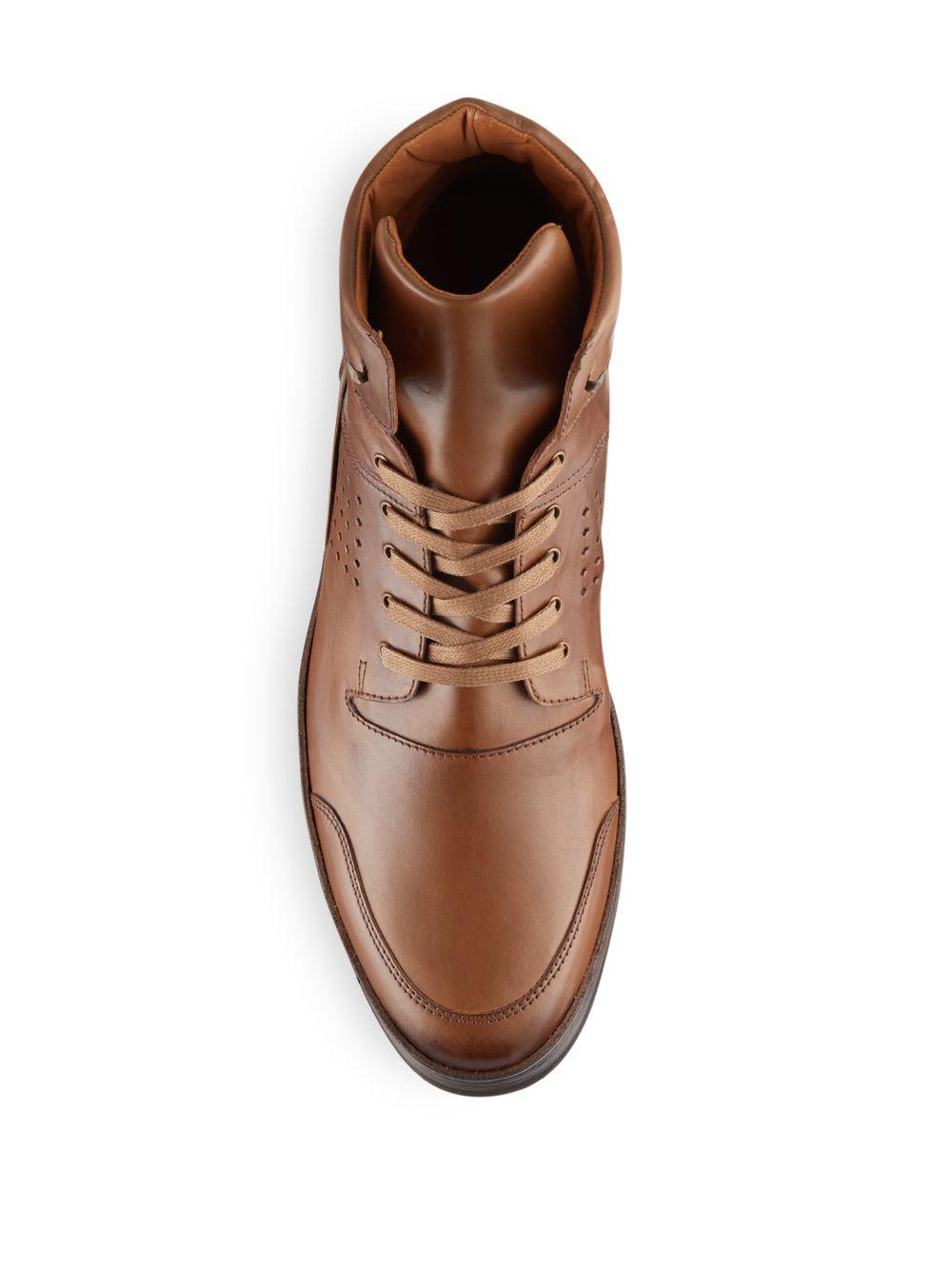 Mezlan Bolzano Leather High Top Sneakers For Men Lyst