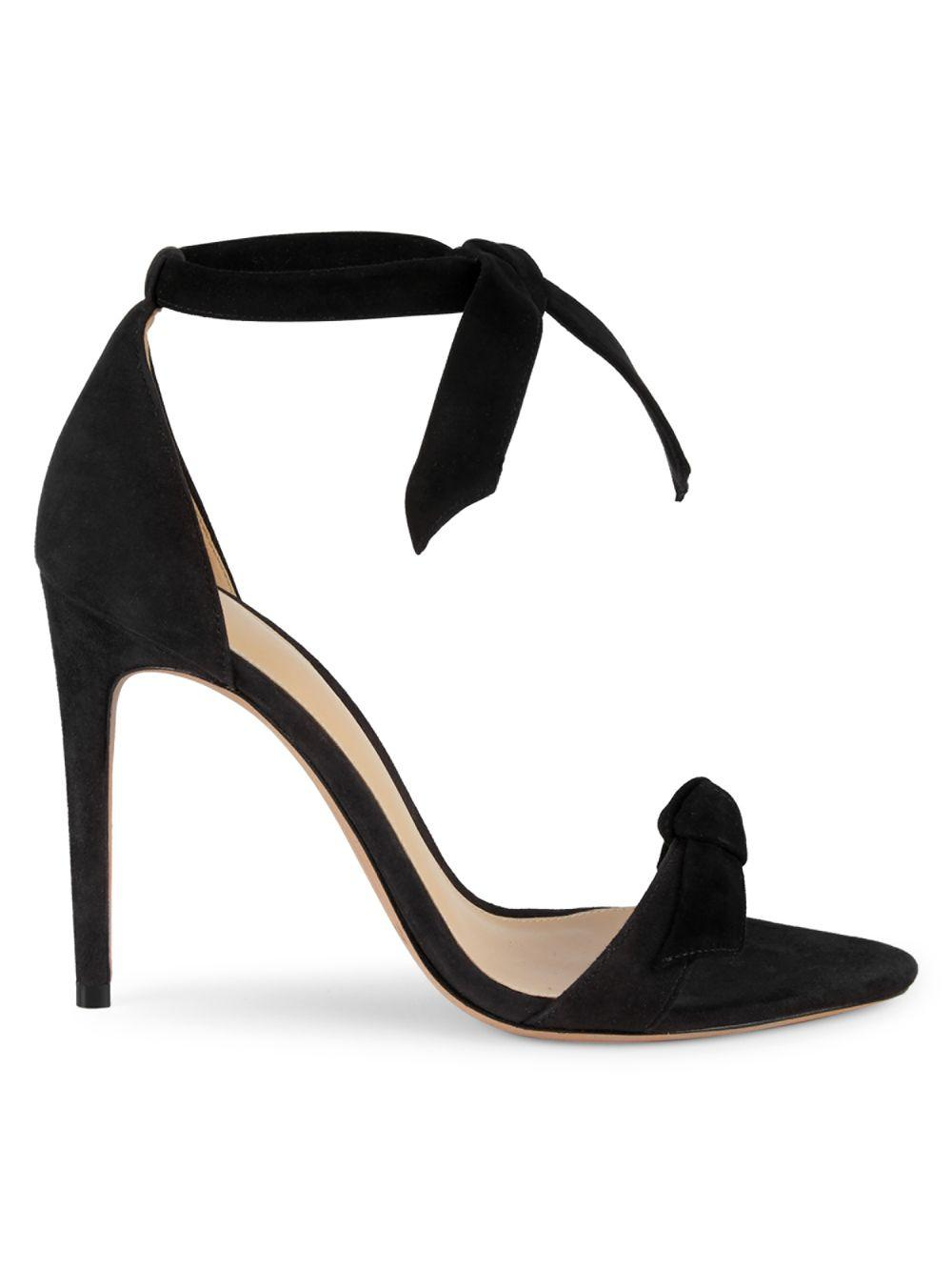 8398d7e1564 Lyst - Alexandre Birman Lovely Suede Ankle-strap Heeled Sandals in Black