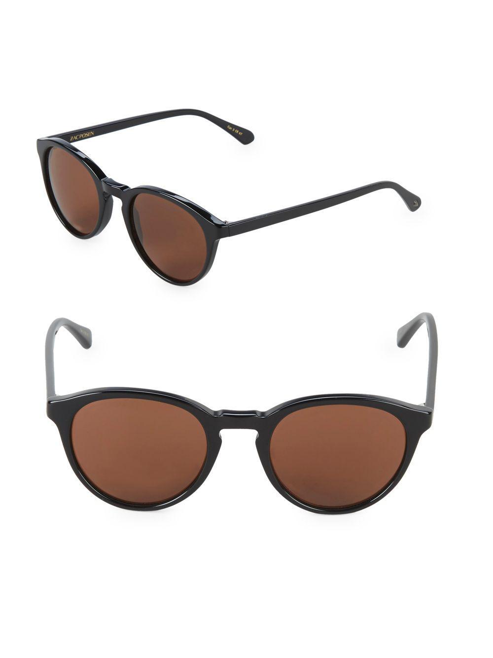 495337dce88 Lyst - Zac Posen Kylian 49mm Round Sunglasses in Black