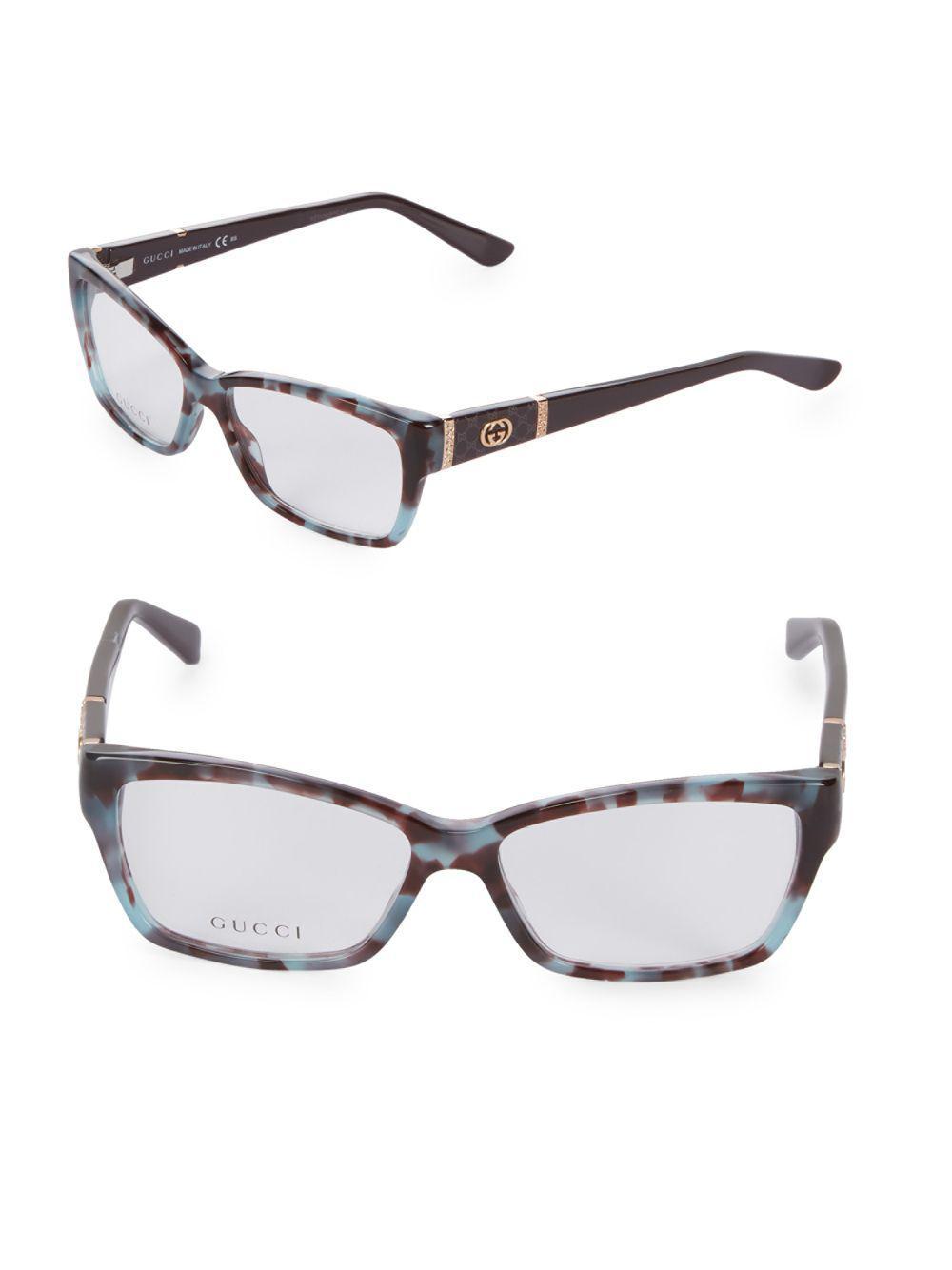 261b13a3931 Gucci - Multicolor 51mm Square Optical Glasses - Lyst. View fullscreen