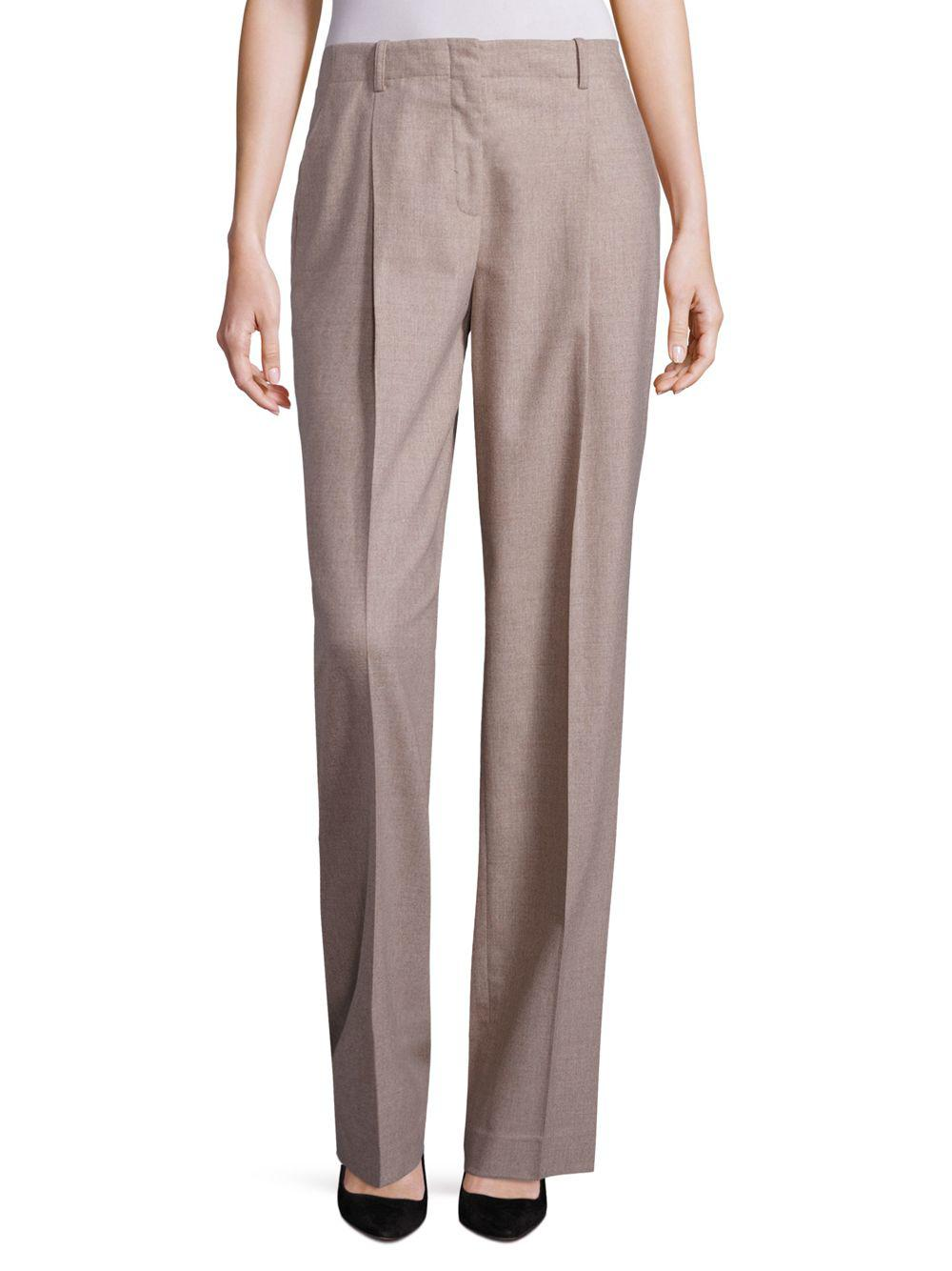 6463f3b975 Lafayette 148 New York. Women's Rivington Finite Italian Flannel Wide-leg  Trousers