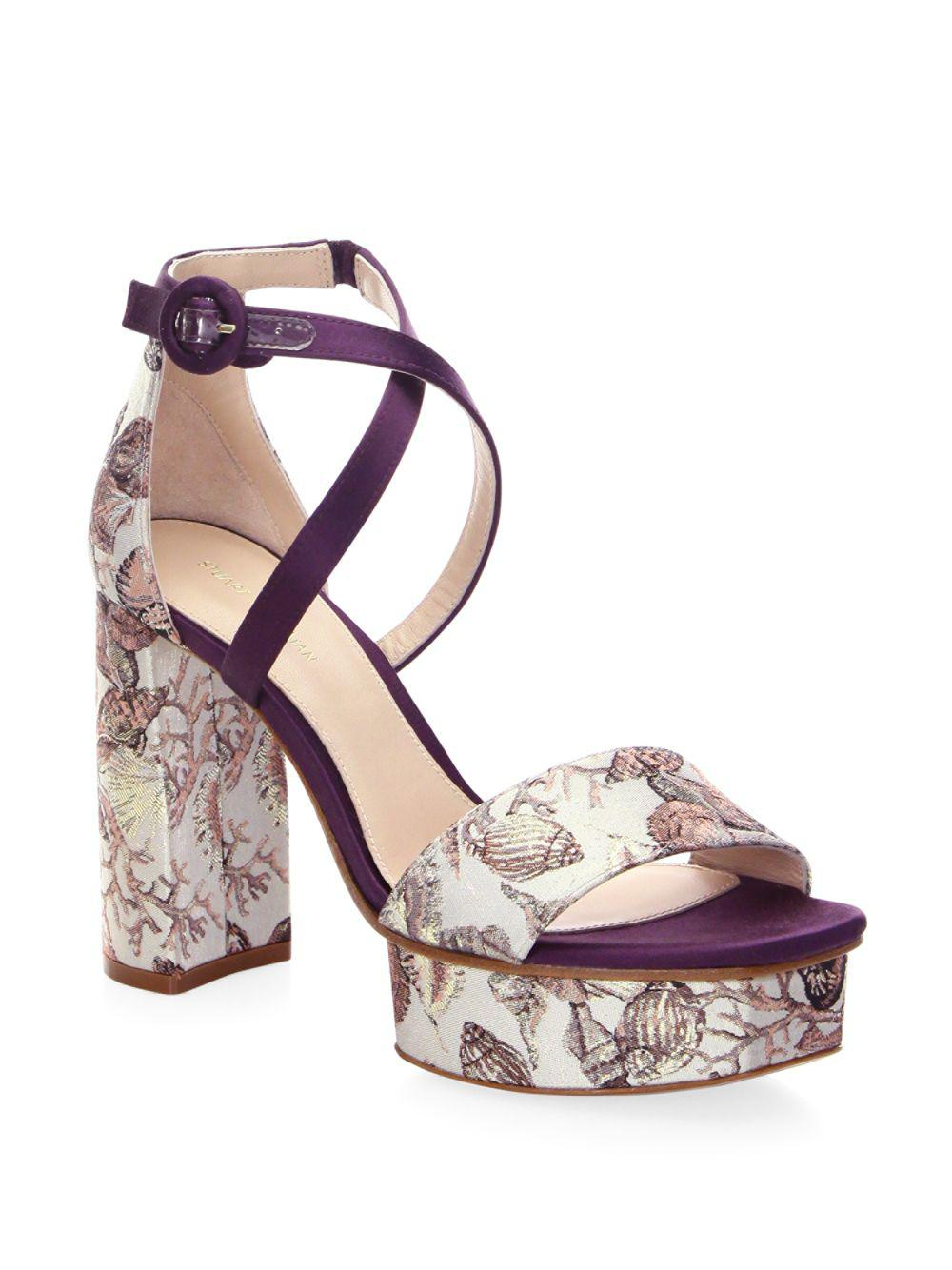 dcb2645d7048 Stuart Weitzman Carla Platform Sandals in Natural - Save 14% - Lyst