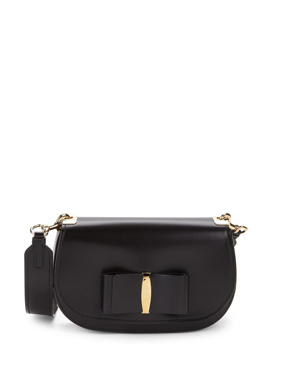 9a7c60e34e0d Lyst - Ferragamo Small Vara Leather Crossbody Bag in Black