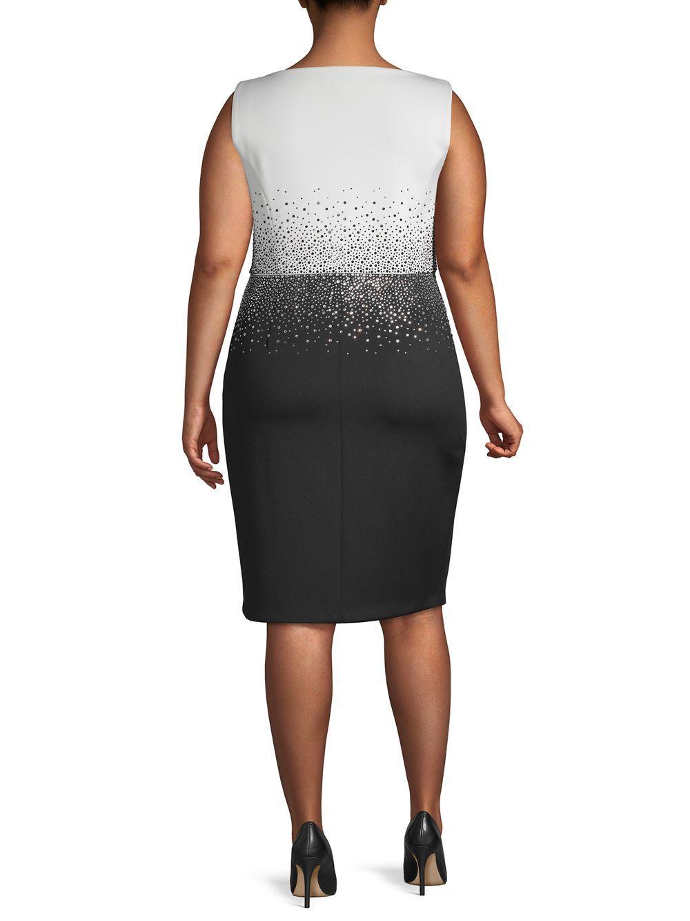 3faa326cc98 Calvin Klein Petite Colorblocked Sheath Dress