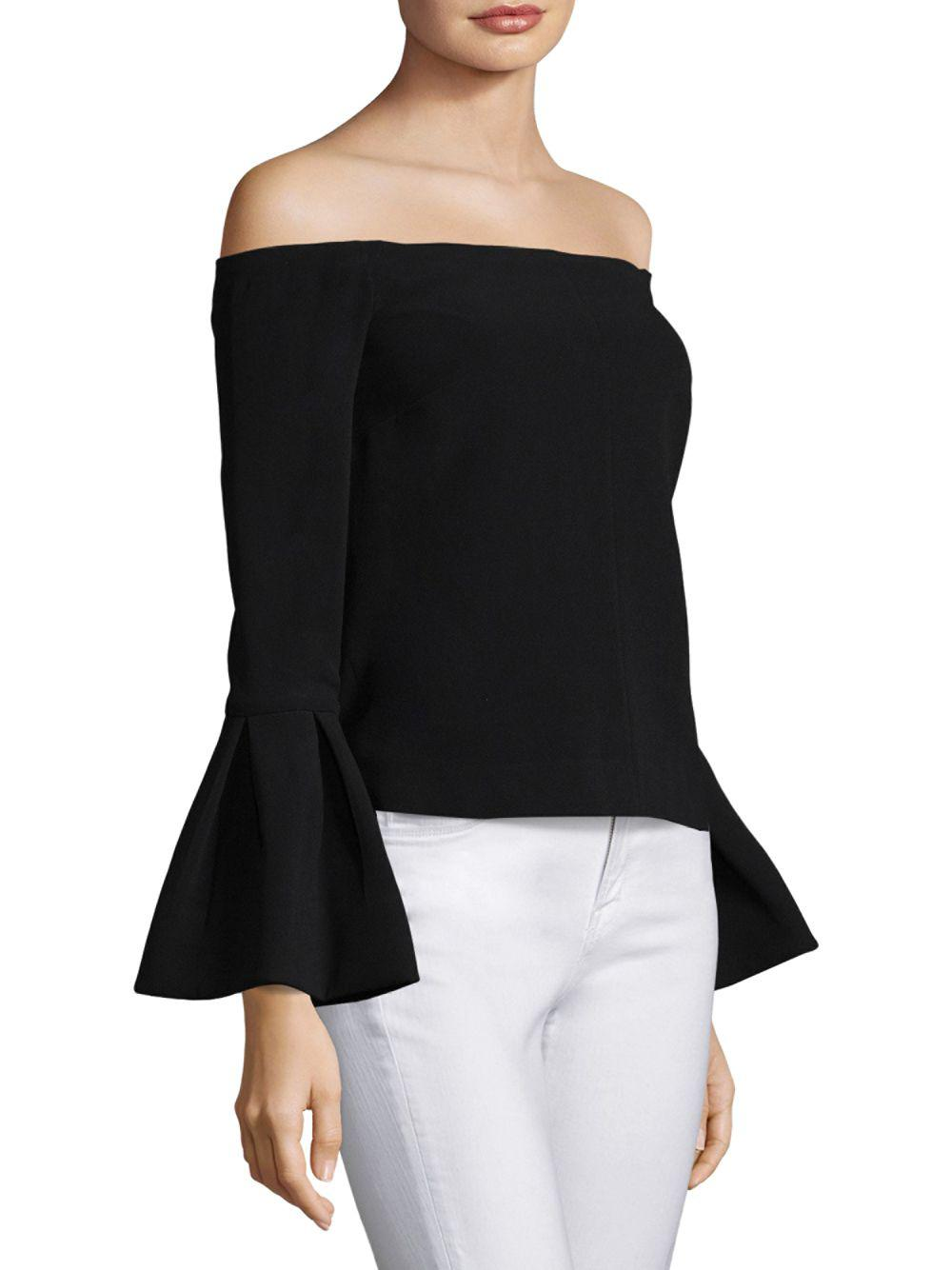 8f357aa2006563 Alexis - Black Tess Bell Sleeve Blouse - Lyst. View fullscreen