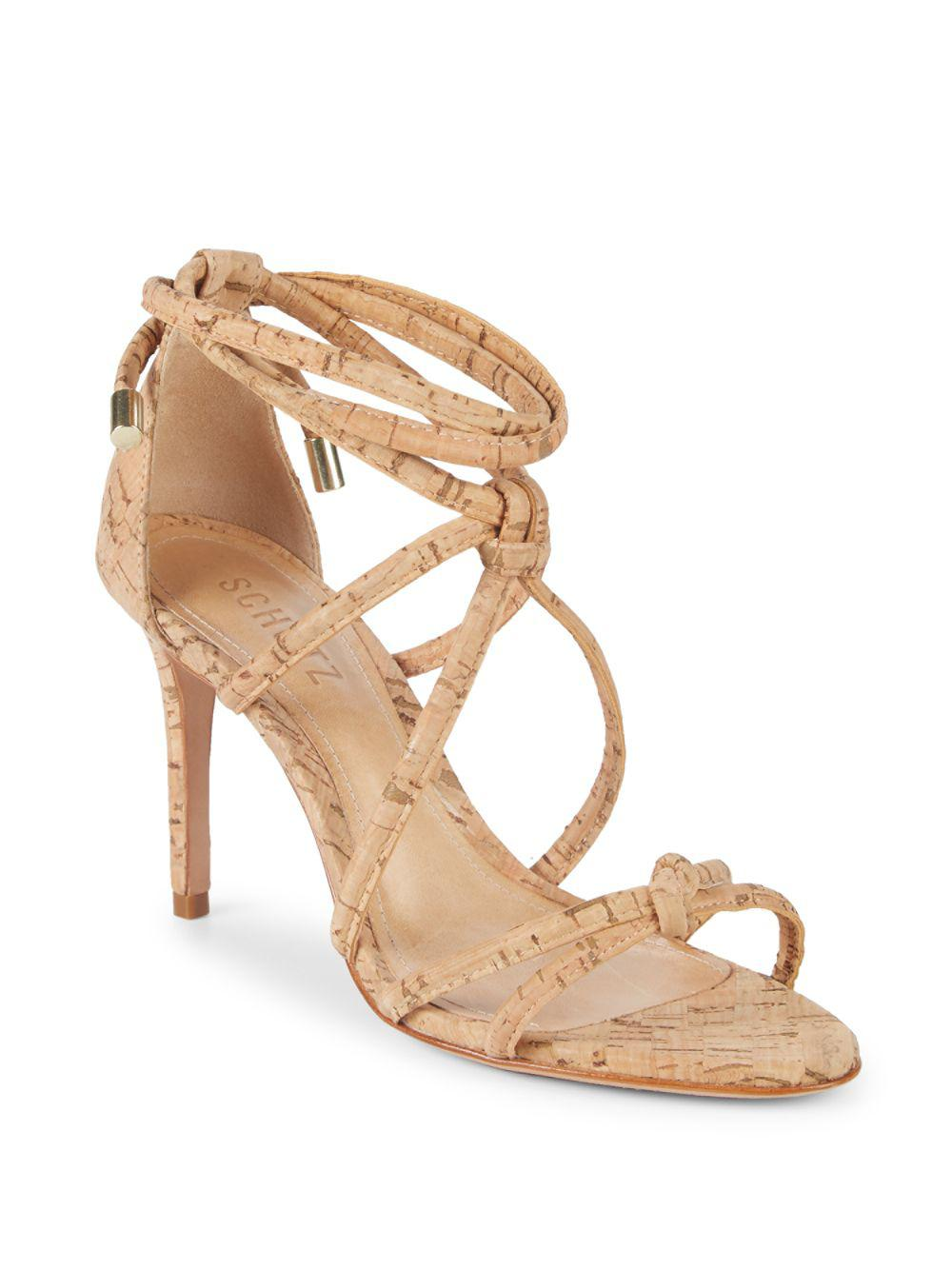 80102db136cc Lyst - Schutz Nadira Ankle-strap Sandals in Natural
