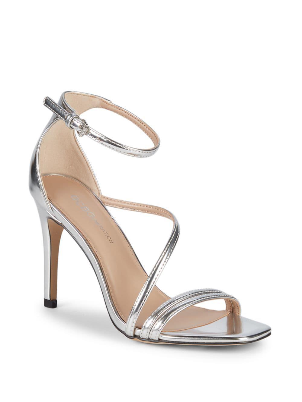 12f374cbae96 Lyst - BCBGeneration Isabel Metallic Stiletto-heel Sandals in Metallic