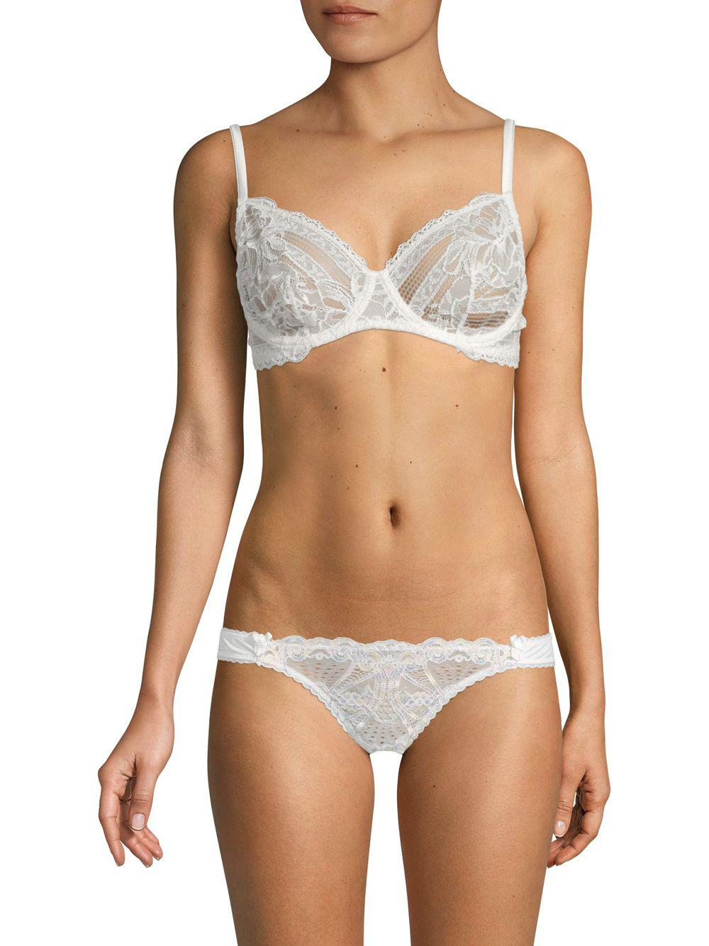 9976007551 Lyst - Addiction Nouvelle Lingerie Comfort Lace Bra in White
