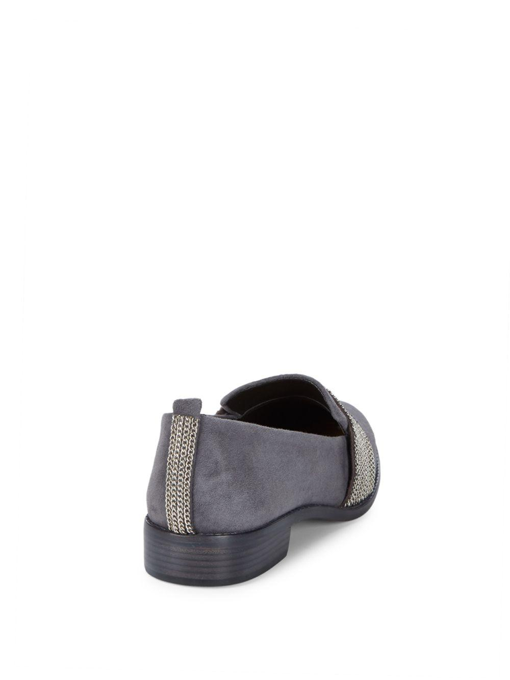 53749d0c8dd Lyst - Schutz Chained Loafers in Gray - Save 21%