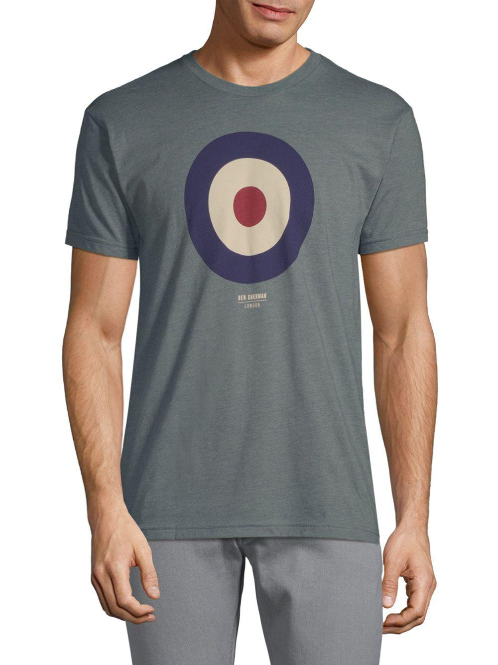 356c453f8 Lyst - Ben Sherman Target Graphic Tee in Blue for Men