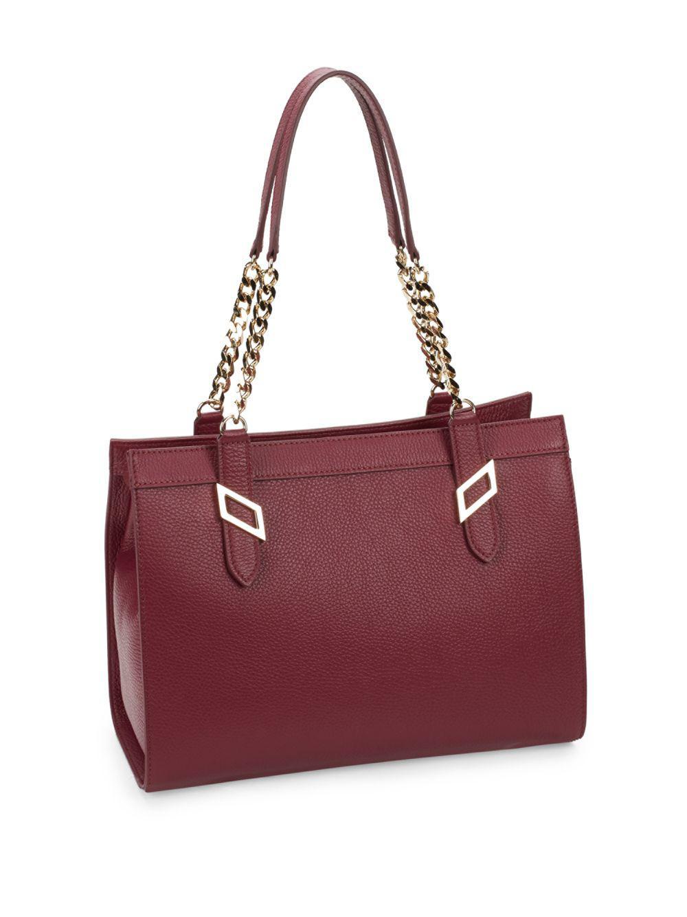 4bdad01e682 Versace Leather Chain Satchel - Lyst