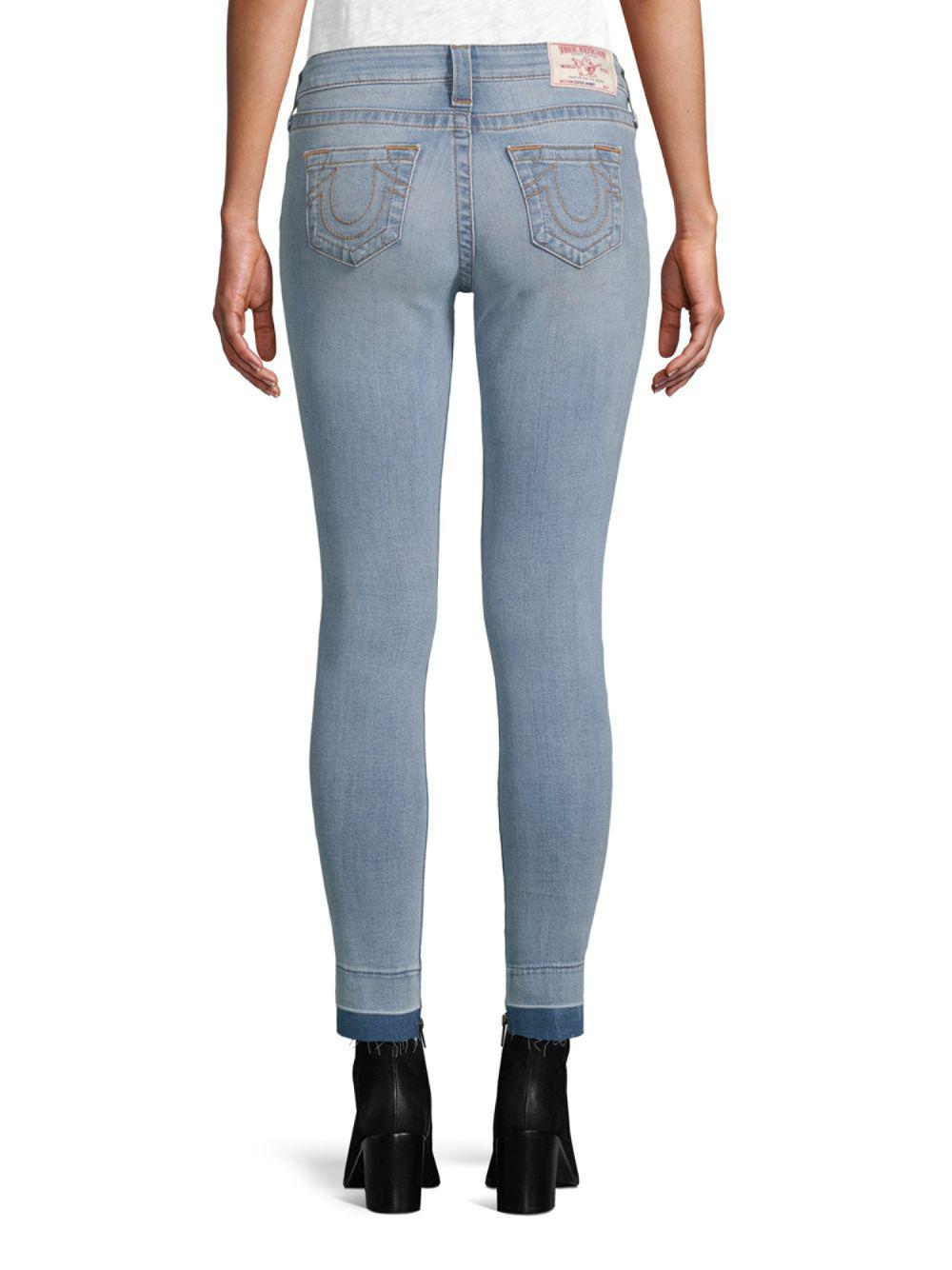 a1d51a7d8572d True Religion Ankle-length Skinny Jeans in Blue - Lyst