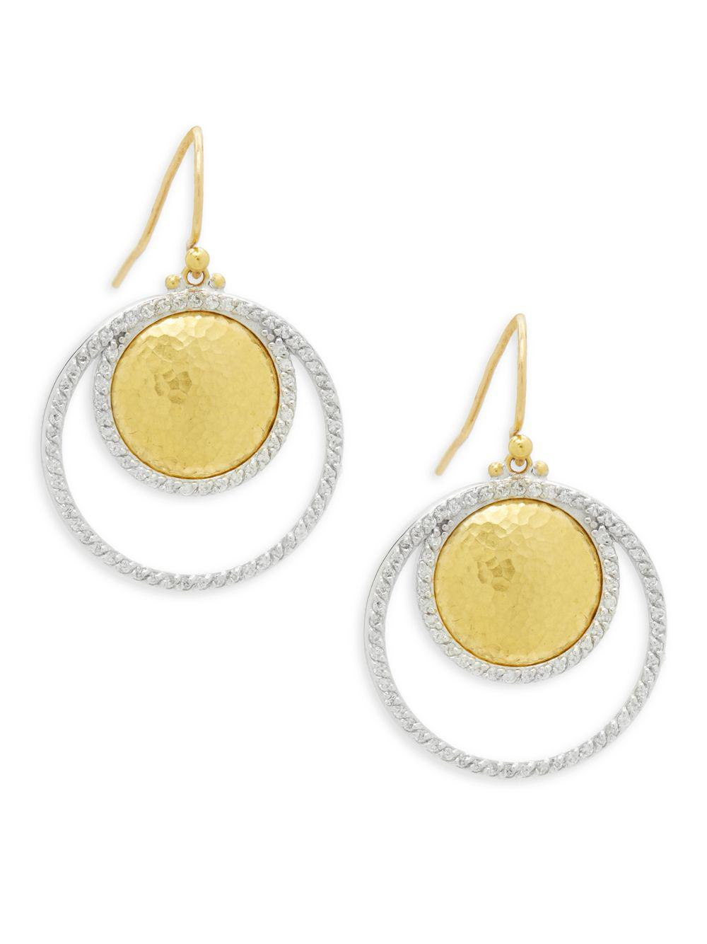 Gurhan 24k Amulet Diamond Pavé Drop Earrings hnEAm