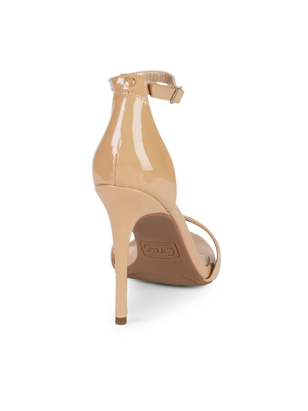 7a6452fa6d7 Circus by Sam Edelman - Natural Angela Ankle-strap Stiletto Sandals - Lyst.  View fullscreen
