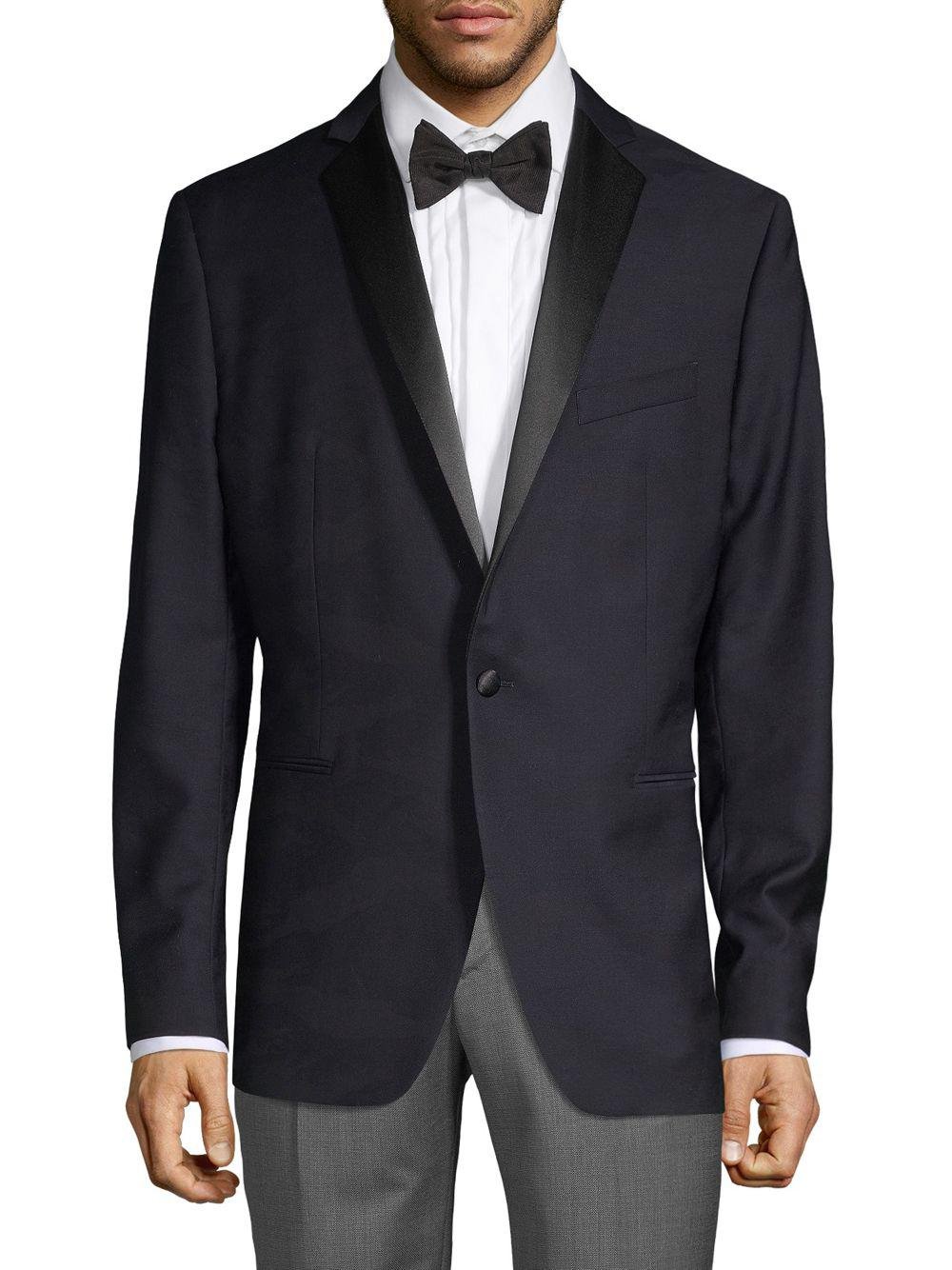 fd4cdd77ffc4a Lyst - John Varvatos Basic Wool Dinner Jacket in Black for Men