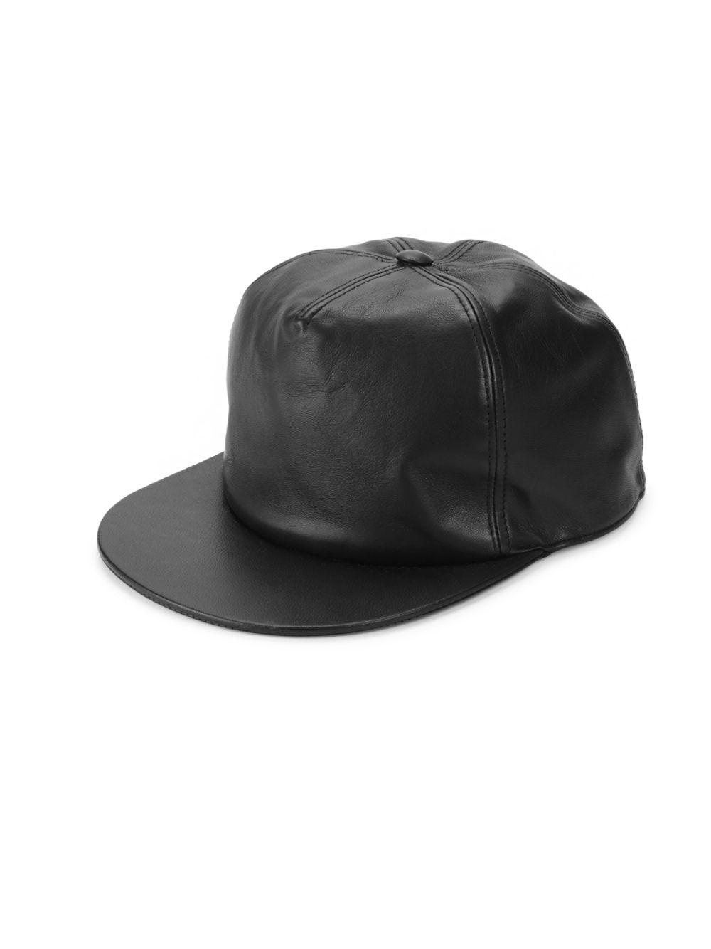 ec9b5c951d2 Lyst - Givenchy Leather Baseball Cap in Black for Men