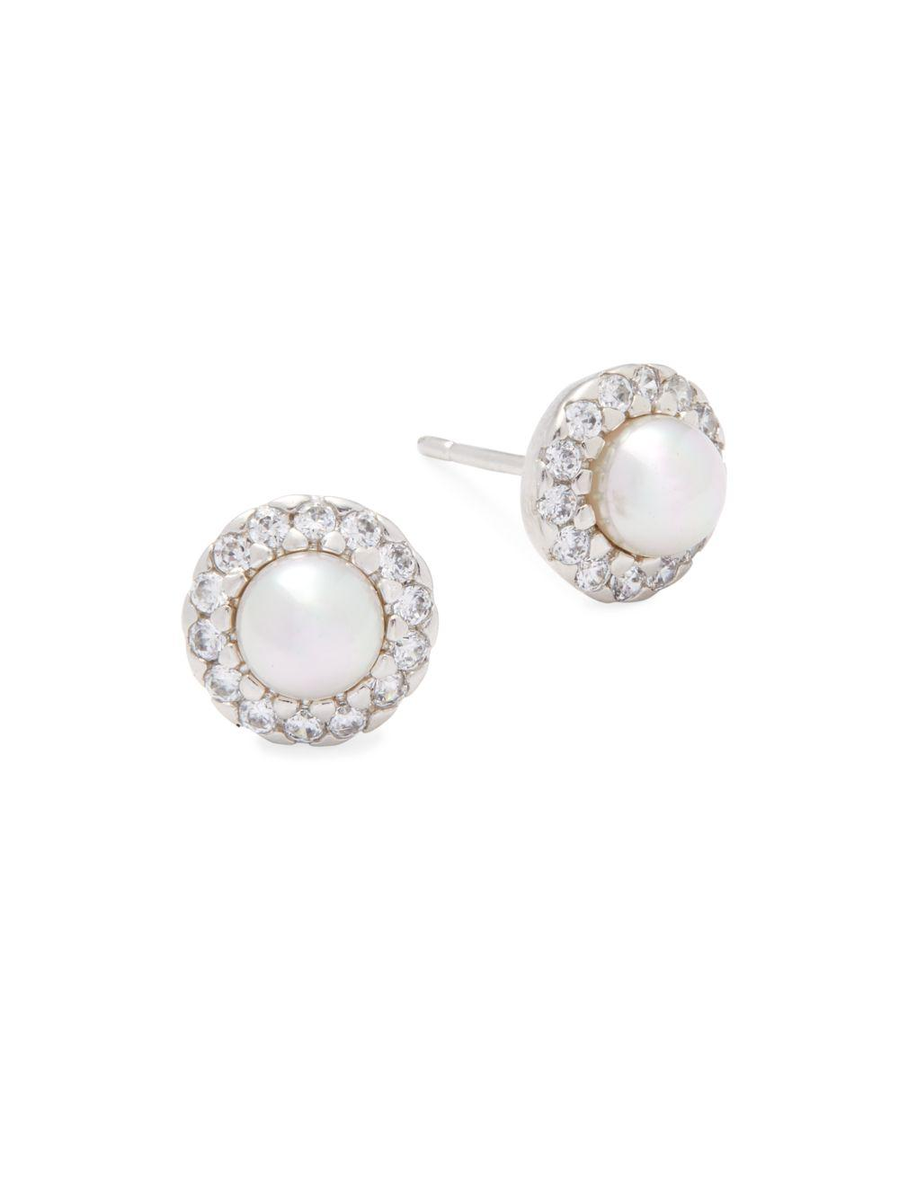 Majorica Simulated Pearl Crystal-Halo Earrings Z0Xld3R2