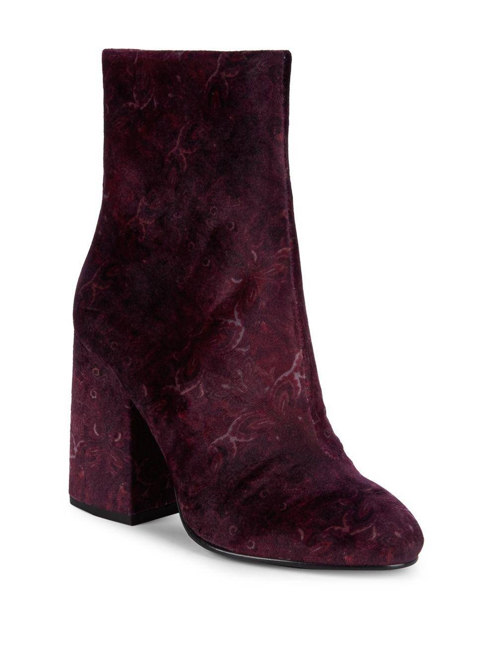 ef6e3254a4078 Ash - Purple Fedora Paisley Velvet Ankle Booties - Lyst. View fullscreen