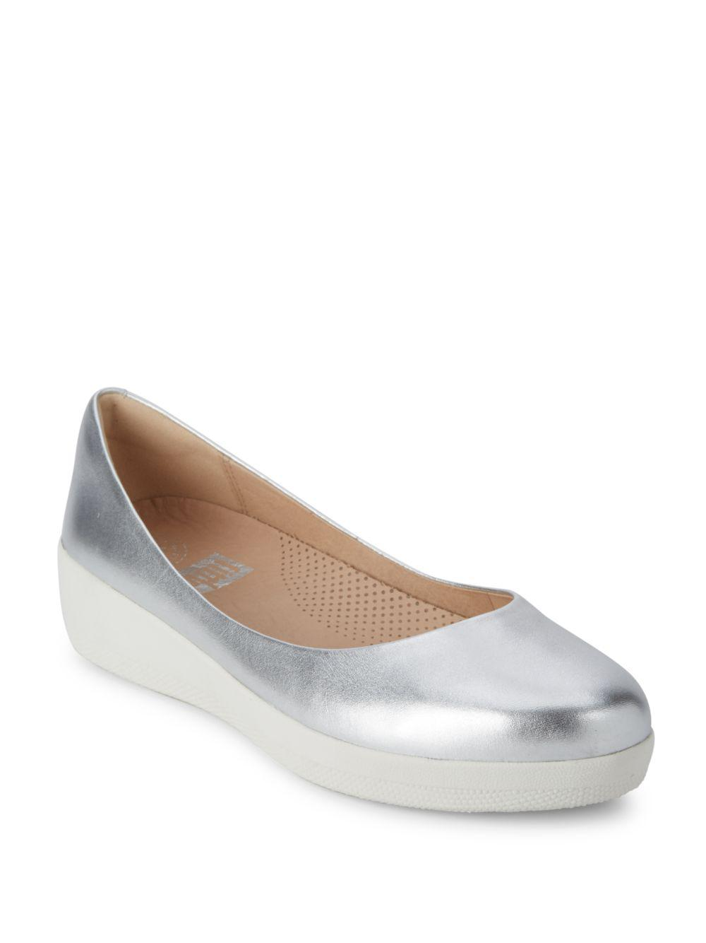 8cb3bb68c3510f Lyst - Fitflop Superballerina Tm Leather Low-cut Ballet Flats in ...