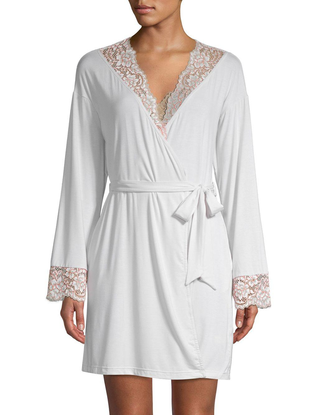bb77c2f93b Lyst - Cosabella Lace-trimmed Robe in Gray