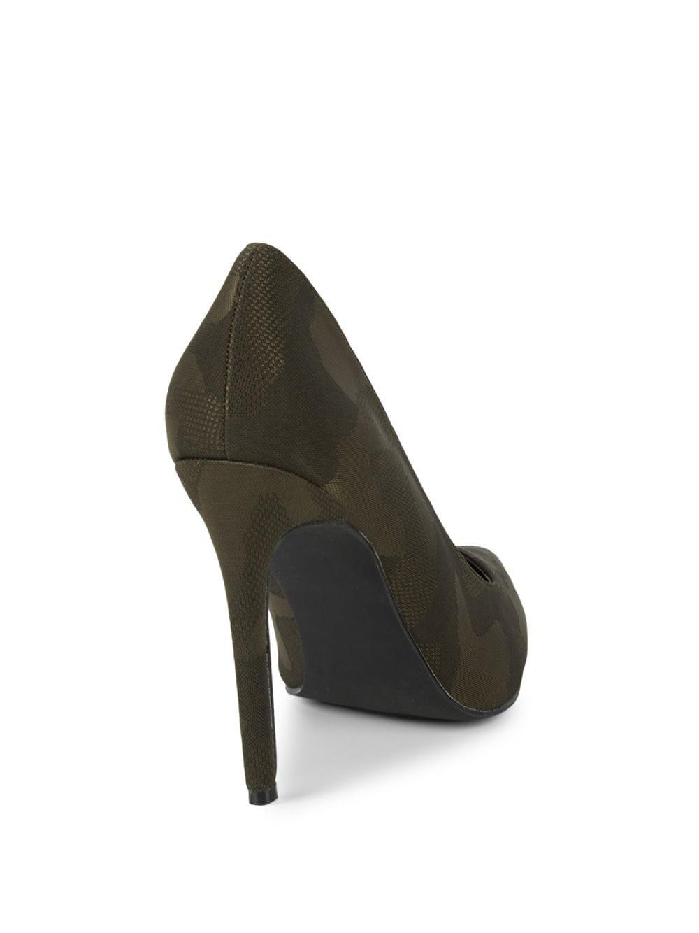48b935be95e Steve Madden Olena Camouflage Point-toe Pumps - Lyst