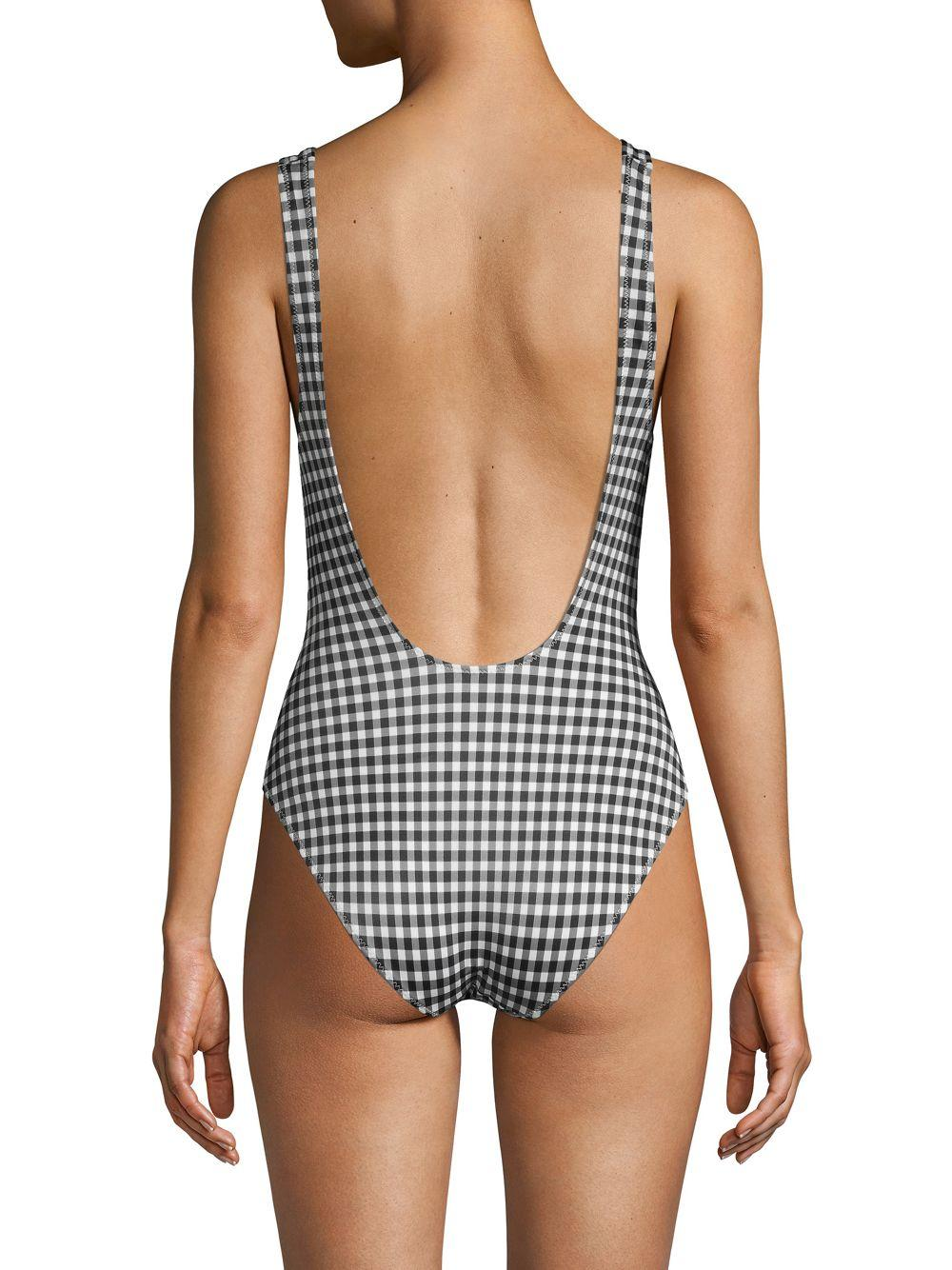 eee70d0d28390 Solid & Striped - Black The Anne Marie Gingham One-piece Swimsuit - Lyst.  View fullscreen
