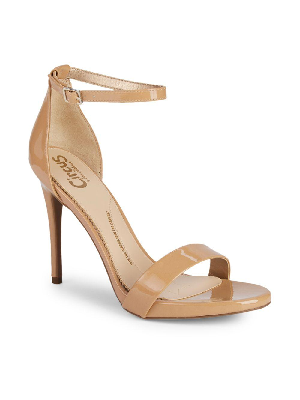 60fe1aaaa5f Circus by Sam Edelman Angela Ankle-strap Stiletto Sandals in Natural - Lyst