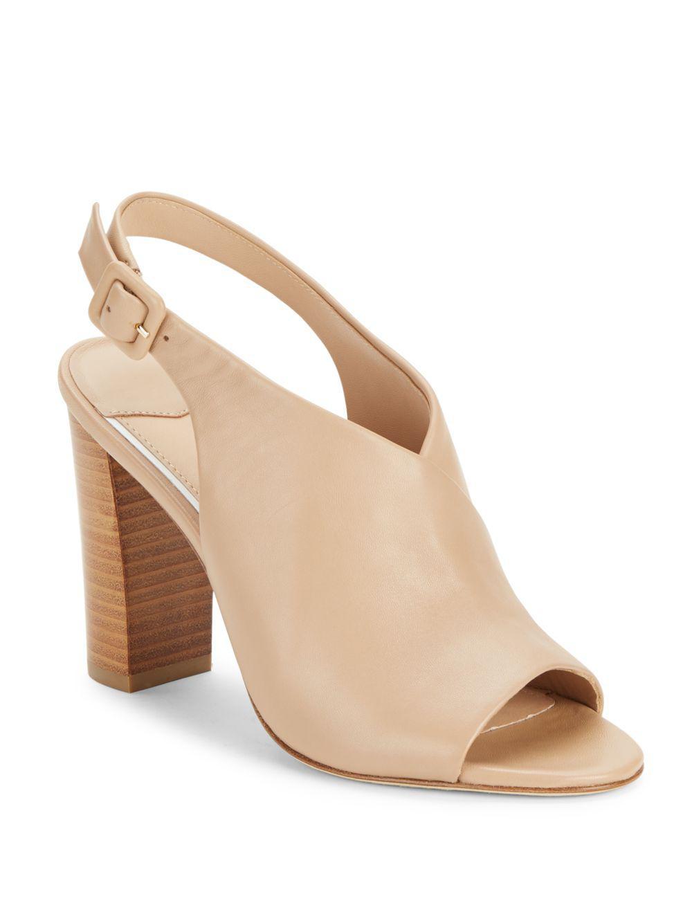 Diane von Furstenberg Leather Slingback Sandals brand new unisex cheap online ZEJBIt5ngW