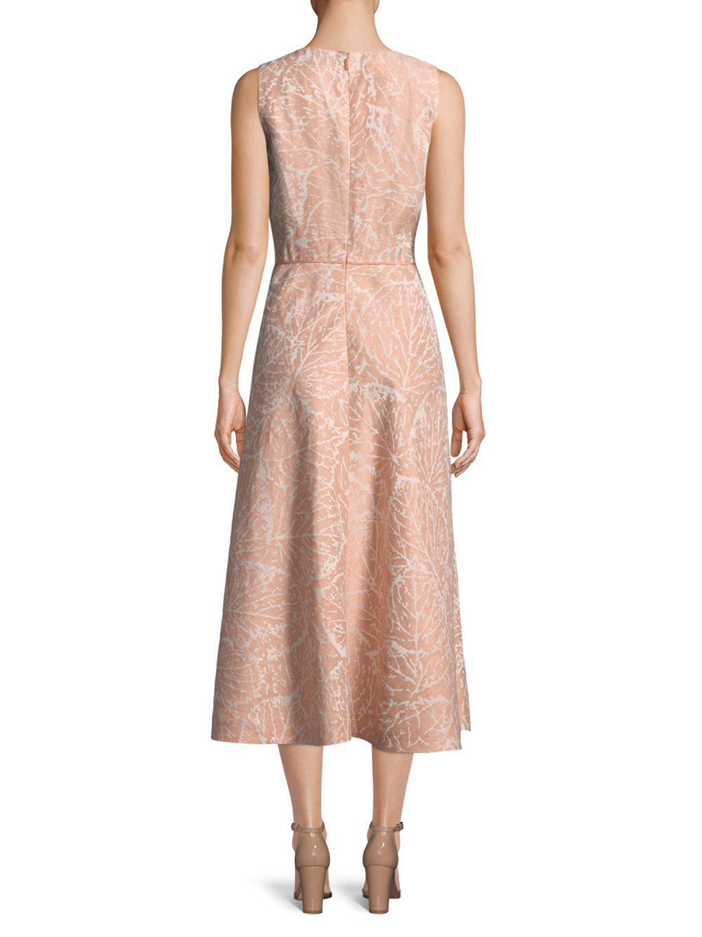 14aab1c46aa83 Lyst - Lafayette 148 New York Aileen Jacquard A-line Dress in Pink