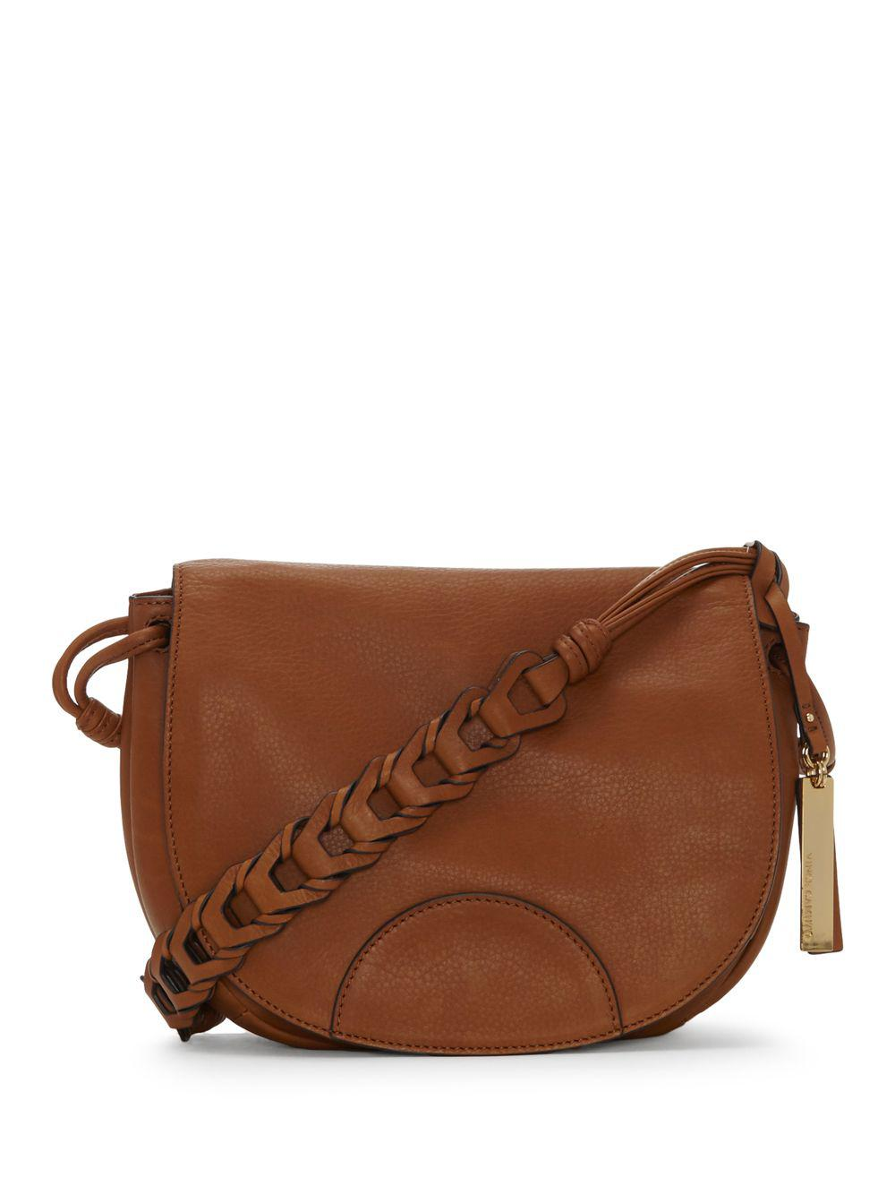 Lyst - Vince Camuto Luela Flap Medium Shoulder Bag in Brown 898036cd7d97d