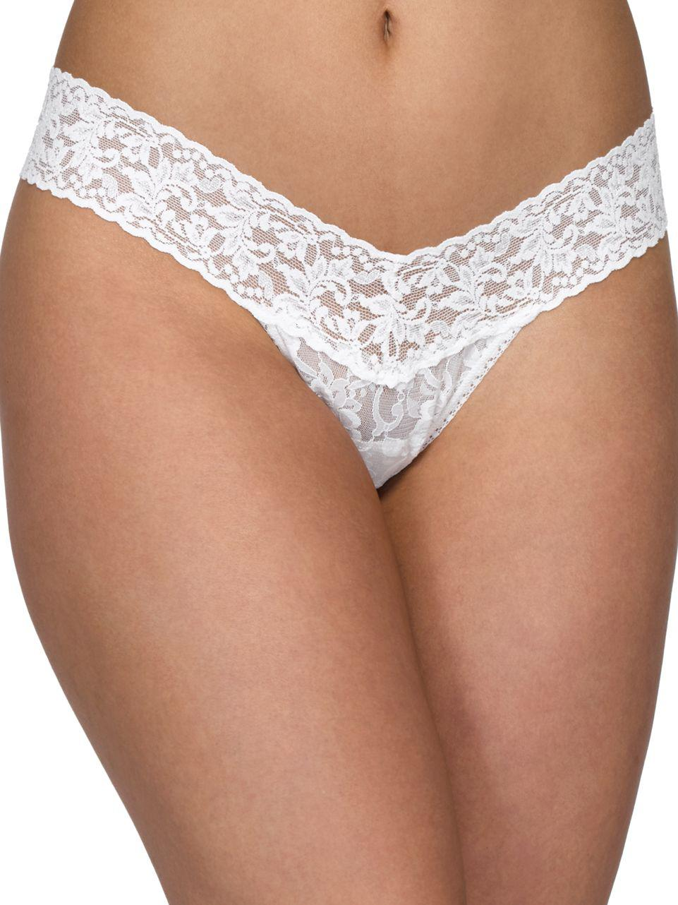 179136a48 Lyst - Hanky Panky Pearl Low-rise Lace Thong in White