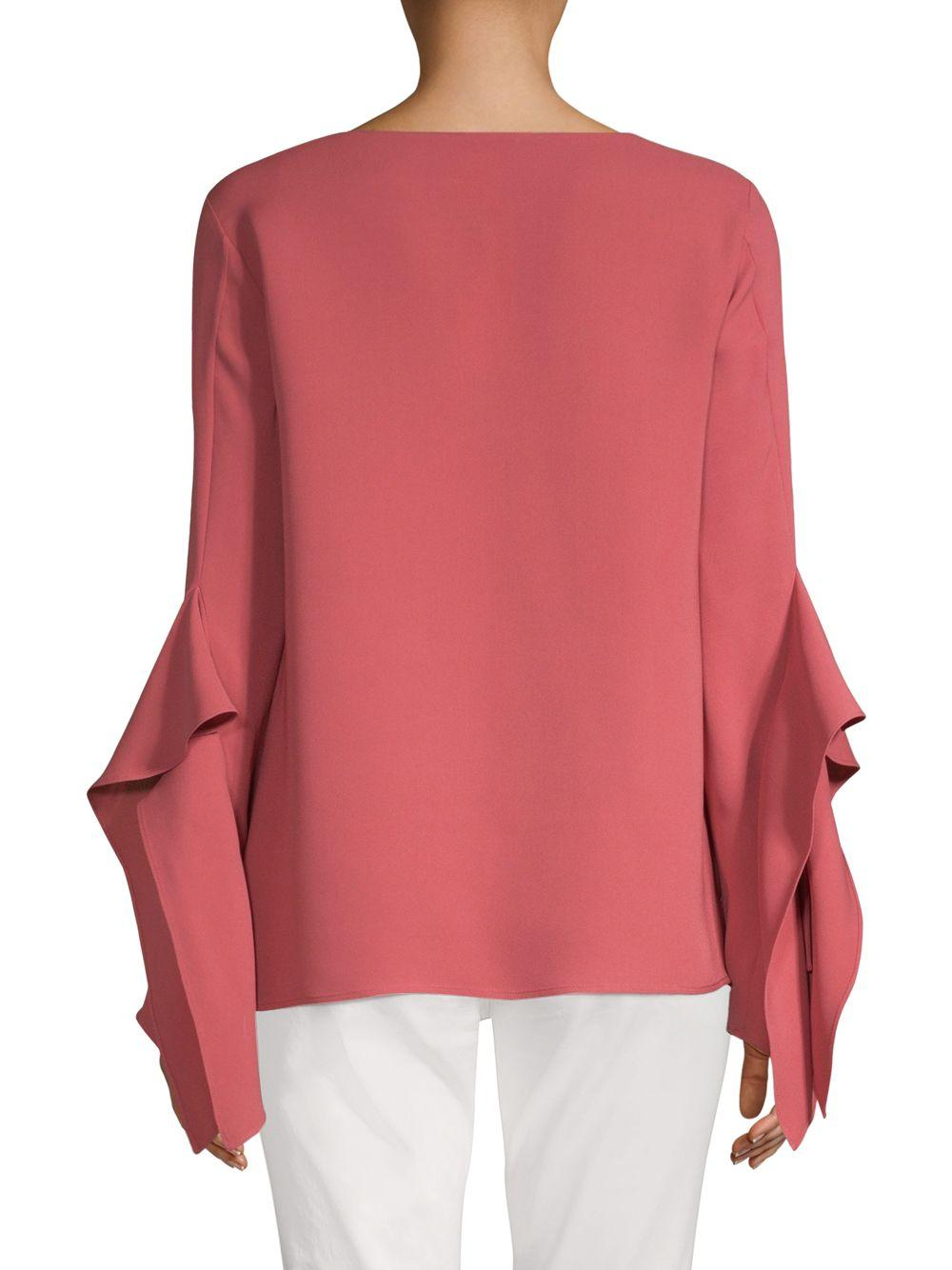 d412ad3338c567 Lafayette 148 New York Catharina Silk Blouse in Pink - Lyst