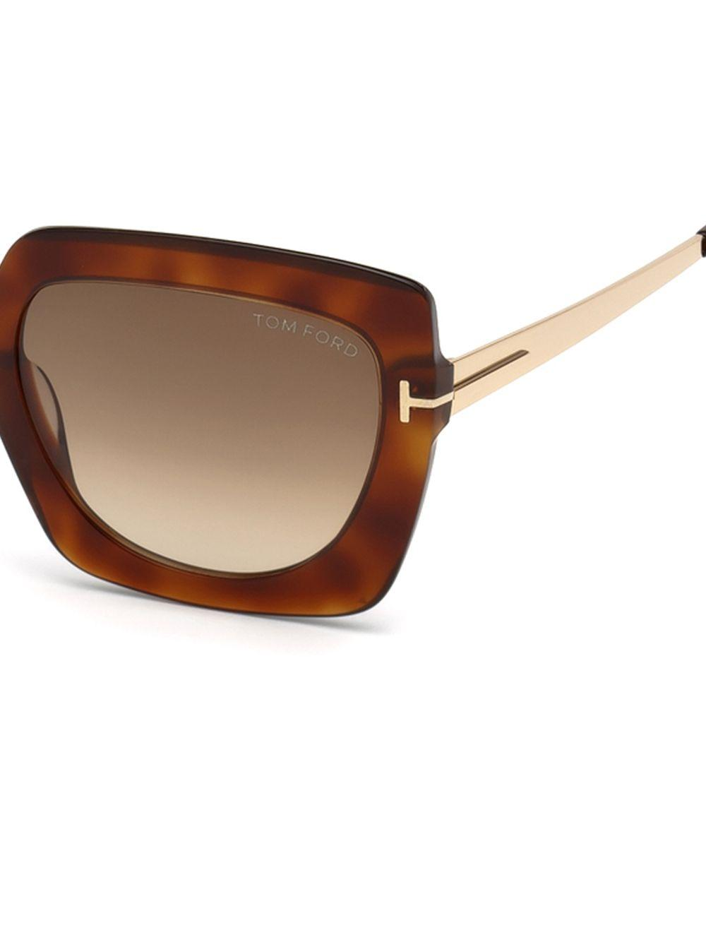 5029adea19 Tom Ford - Brown Jasmine 53mm Two Tone Square Sunglasses - Lyst. View  fullscreen