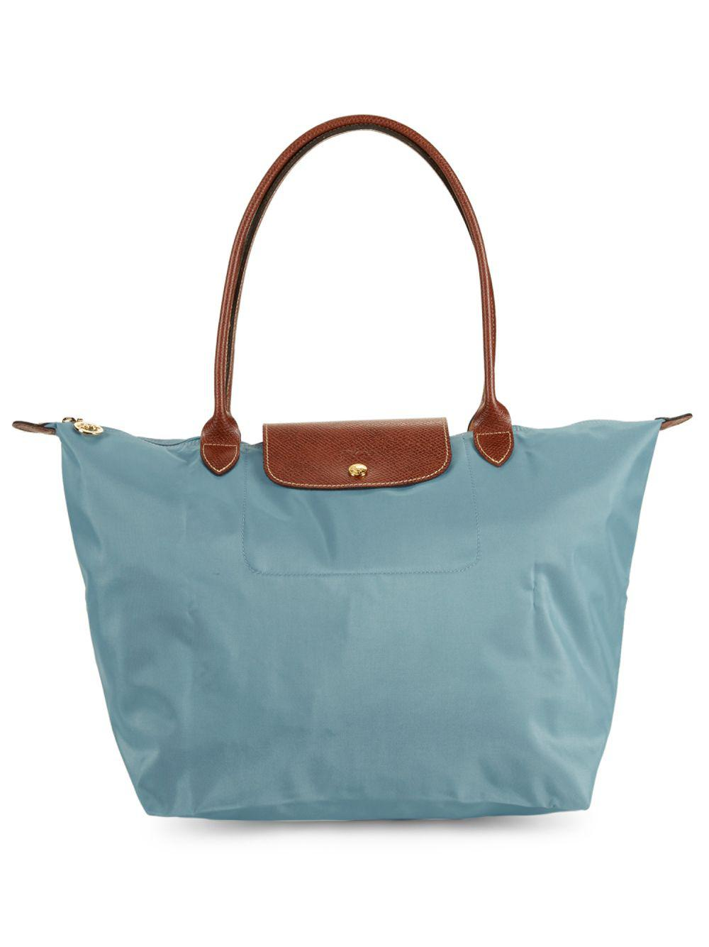 Lyst - Longchamp Large Classic Le Pliage Tote Bag in Blue 12eccc17f2099
