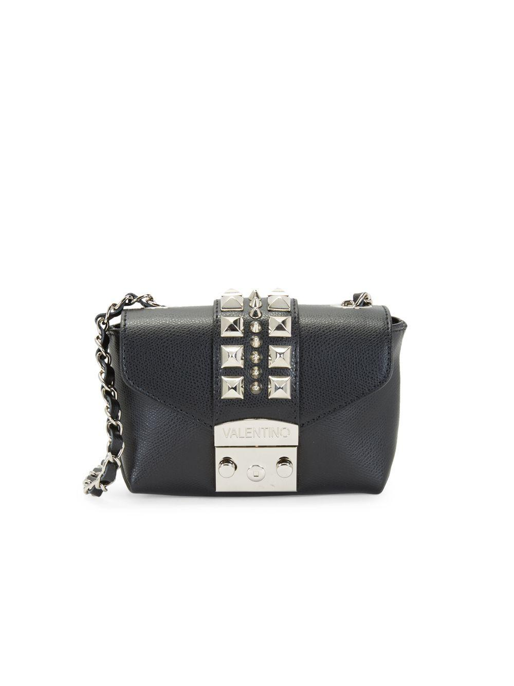ad418f7c846 Valentino By Mario Valentino. Women's Black Paulette Studded Crossbody Bag