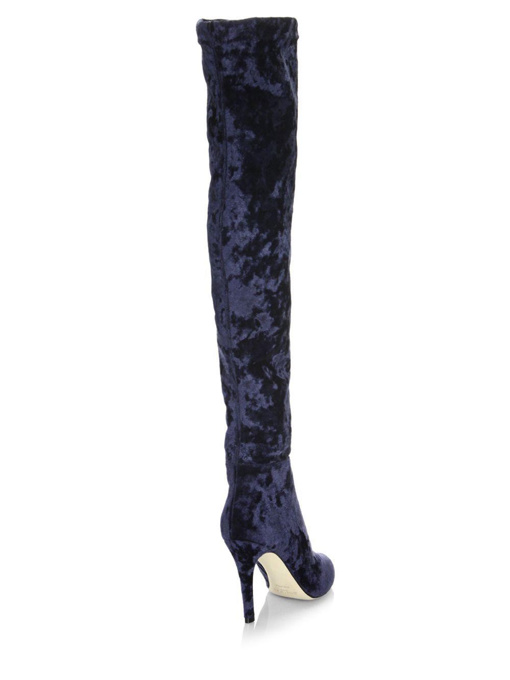 62094622427 Jimmy Choo Toni Velvet Over-the-knee Boots in Blue - Lyst