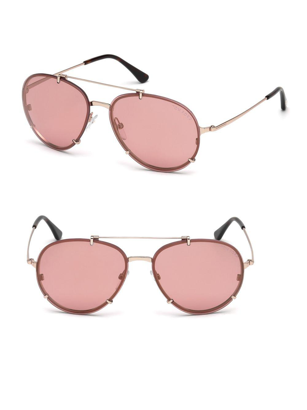 924fe505ed Tom Ford Dickon 59mm Aviator Sunglasses in Pink - Save ...