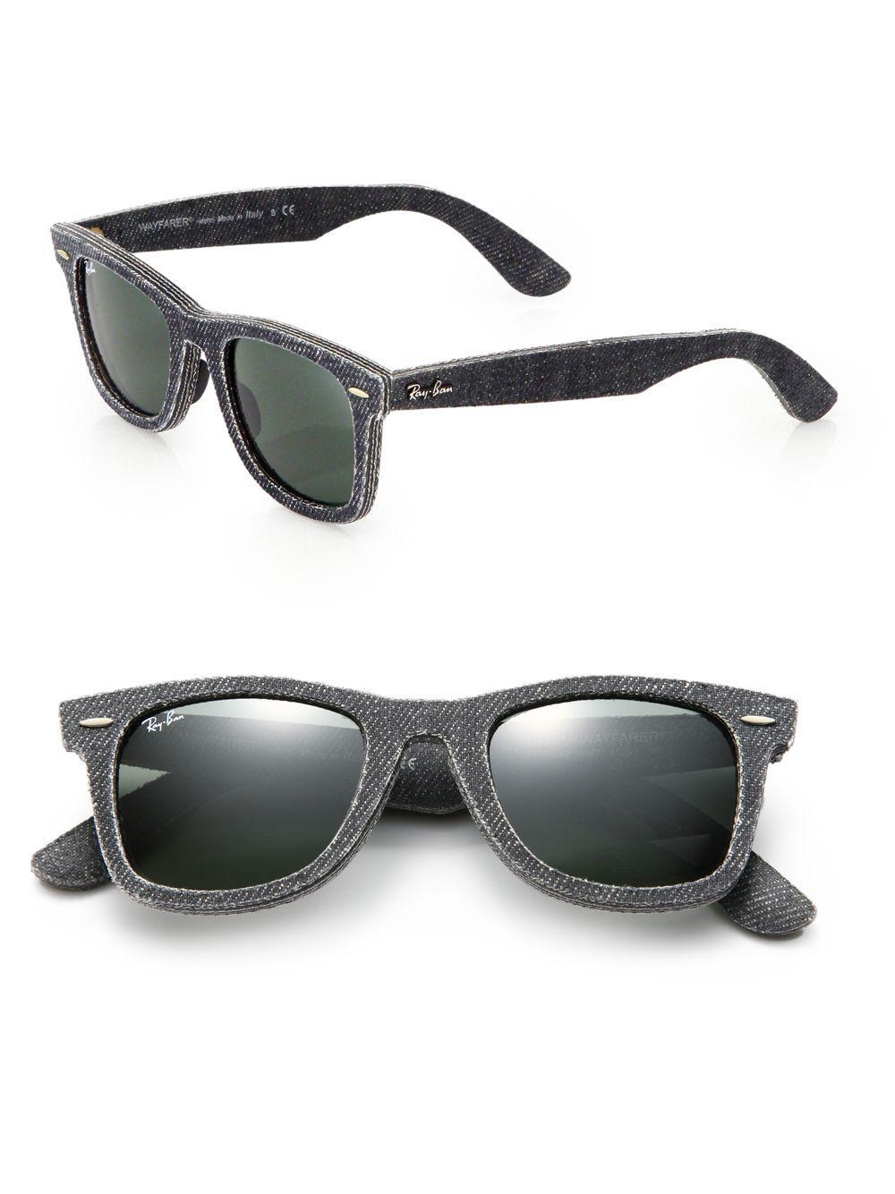 22c20d59084 Ray-Ban 50mm Denim Wayfarer Sunglasses in Black - Save ...