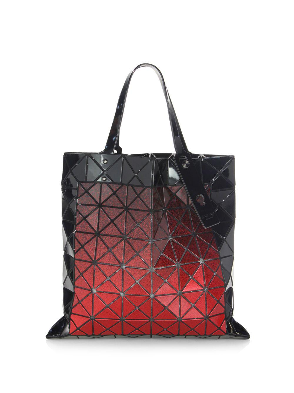 Lyst - Bao Bao Issey Miyake Mado Square Tote in Red - Save 40% bff3fc5ddec57