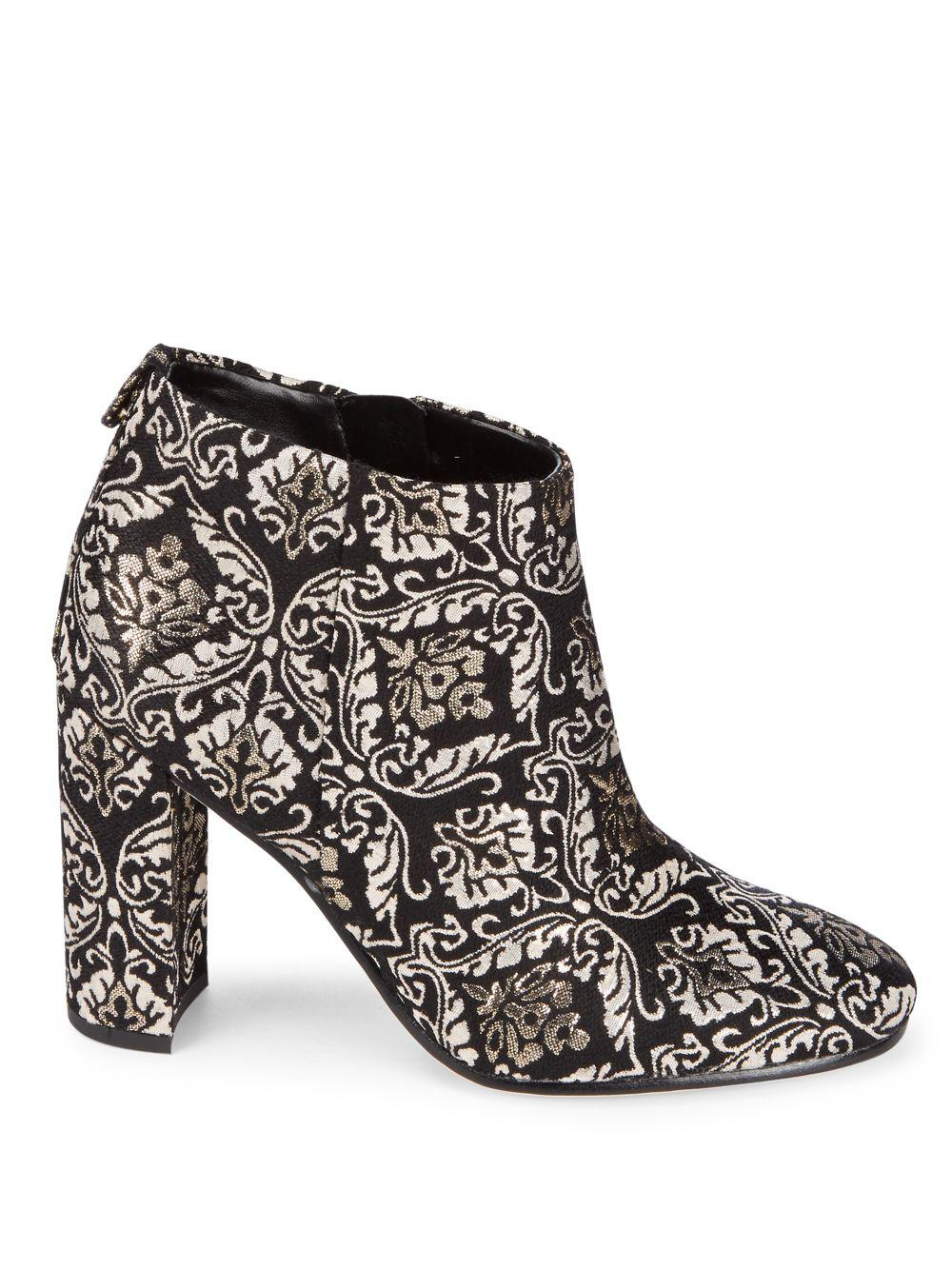 2b0174639f36 Sam Edelman - Black  cambell  Floral Damask Ankle Boots - Lyst. View  fullscreen