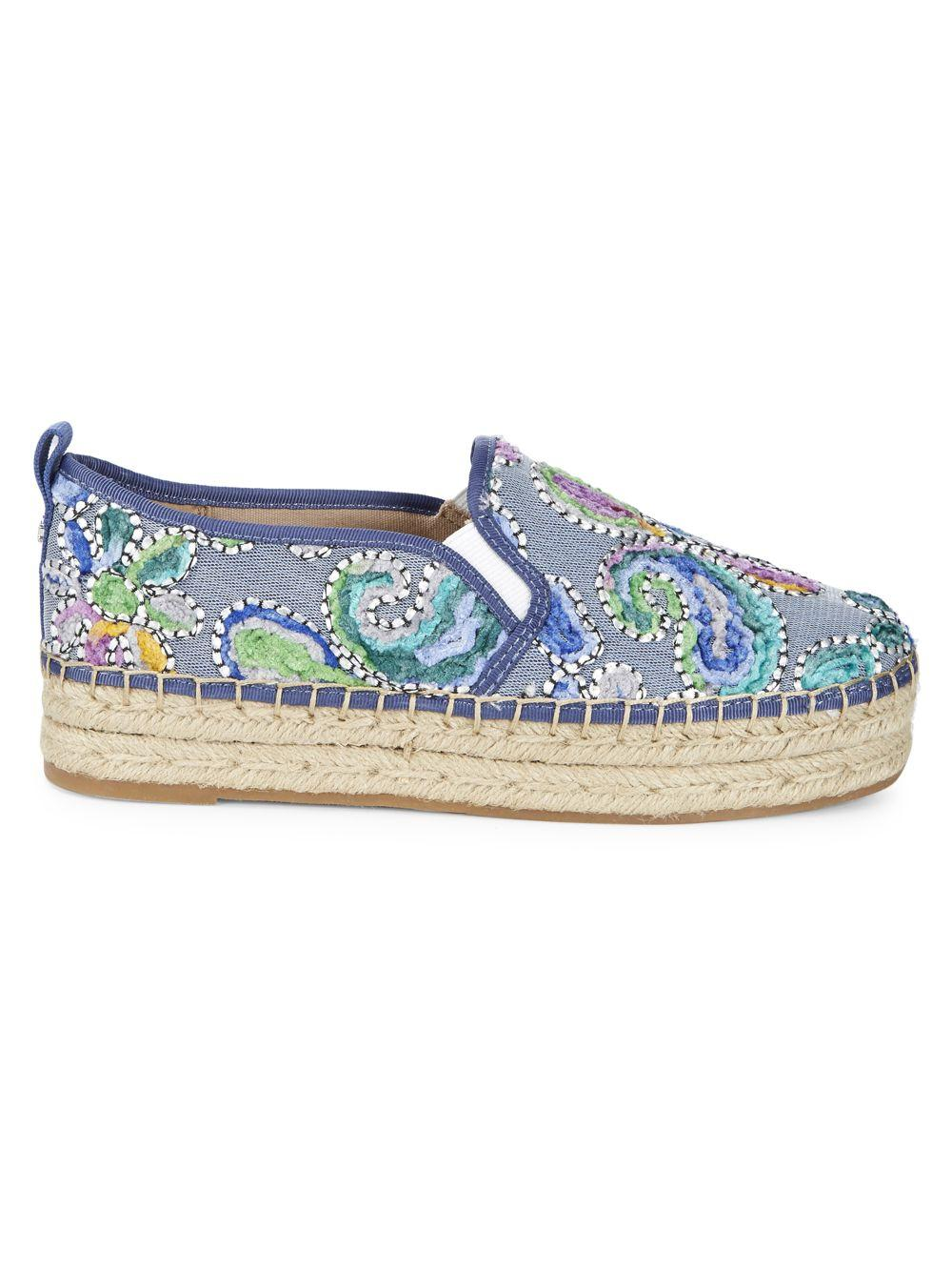 1c29140170bc Lyst - Sam Edelman Carrin Embroidered Paisley Espadrilles in Blue