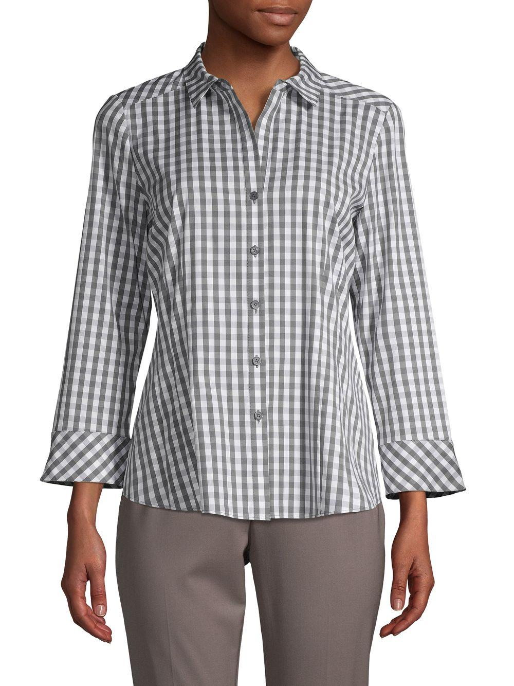 1ce74013 Lafayette 148 New York. Women's Janessa Gingham Shirt