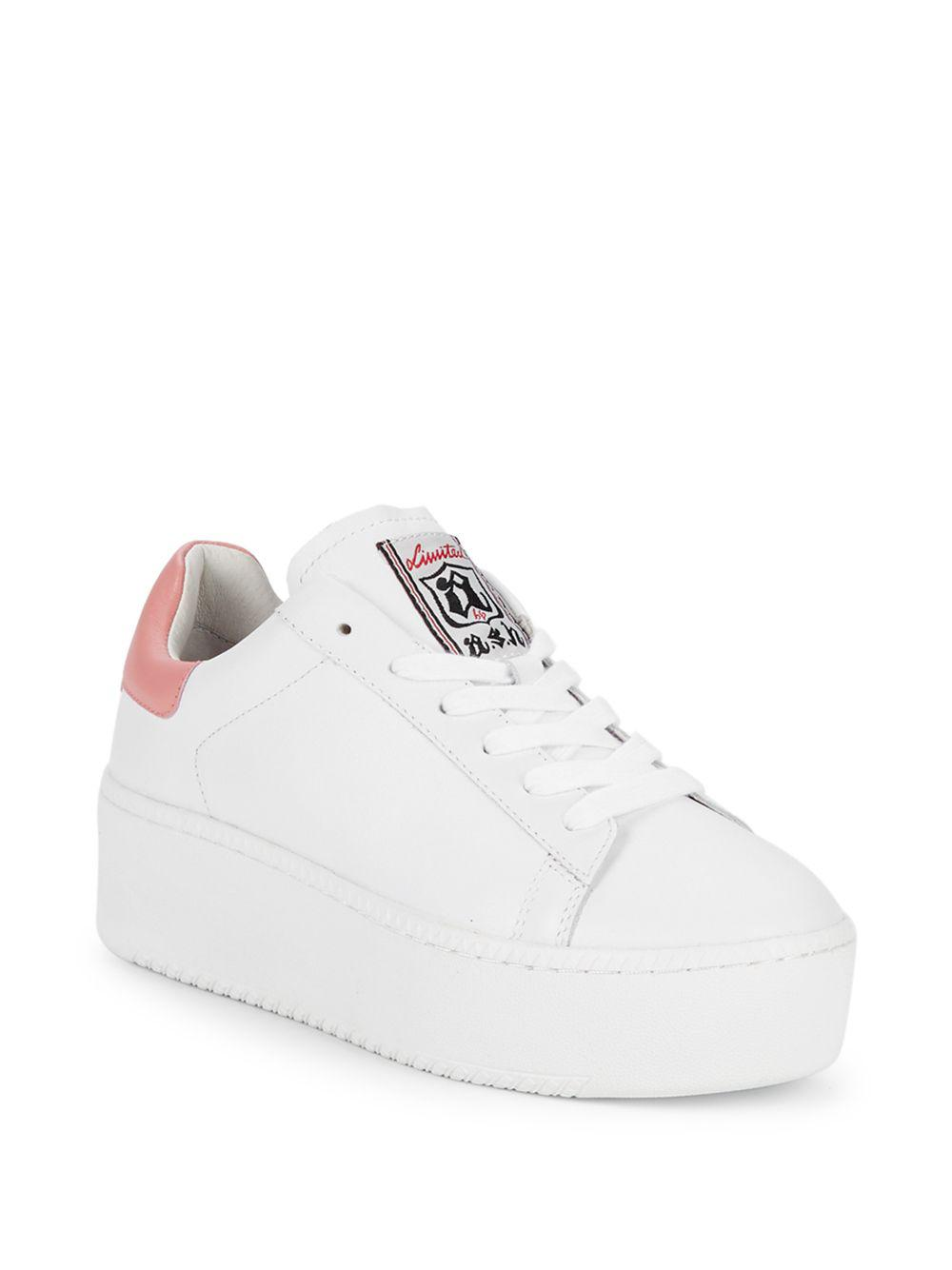 654b3fa1f4e1 Lyst - Ash Cult Leather Platform Sneaker in White - Save 62%