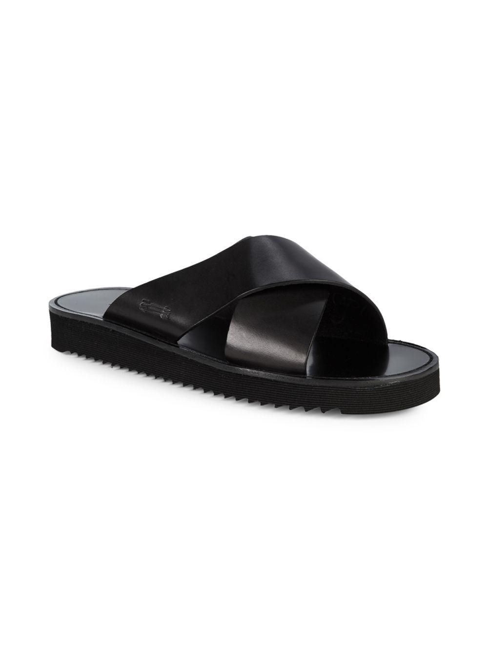 77422c3bb403 Lyst - Uri Minkoff Otto Leather Slides in Black for Men